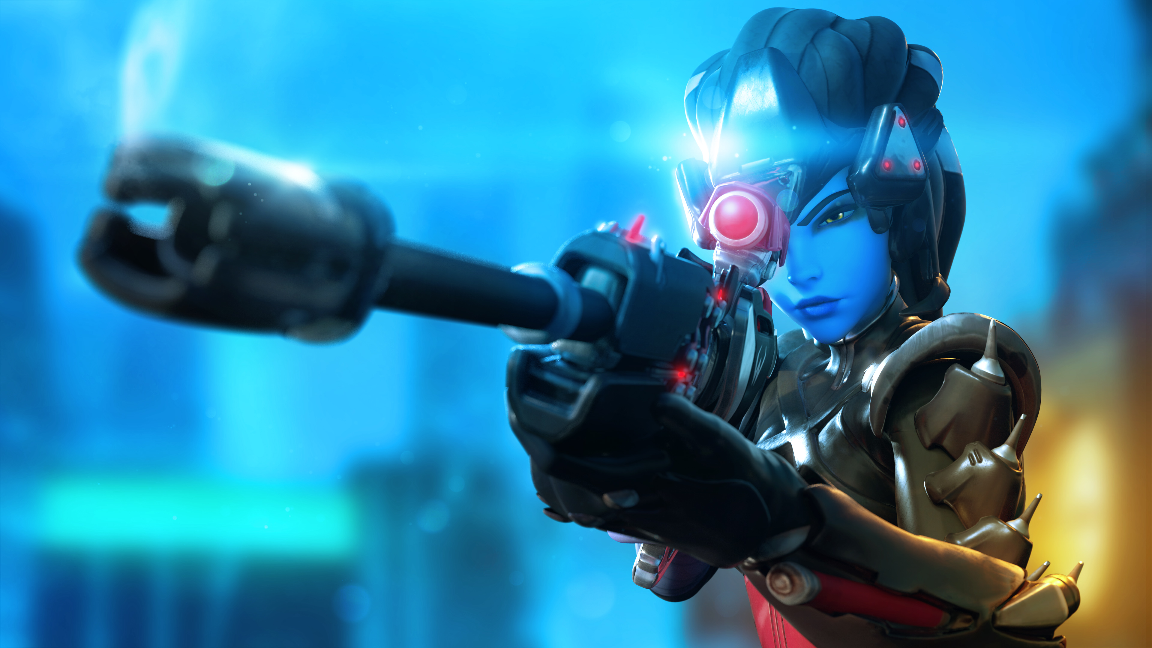 Noire Widowmaker 4K wallpaper