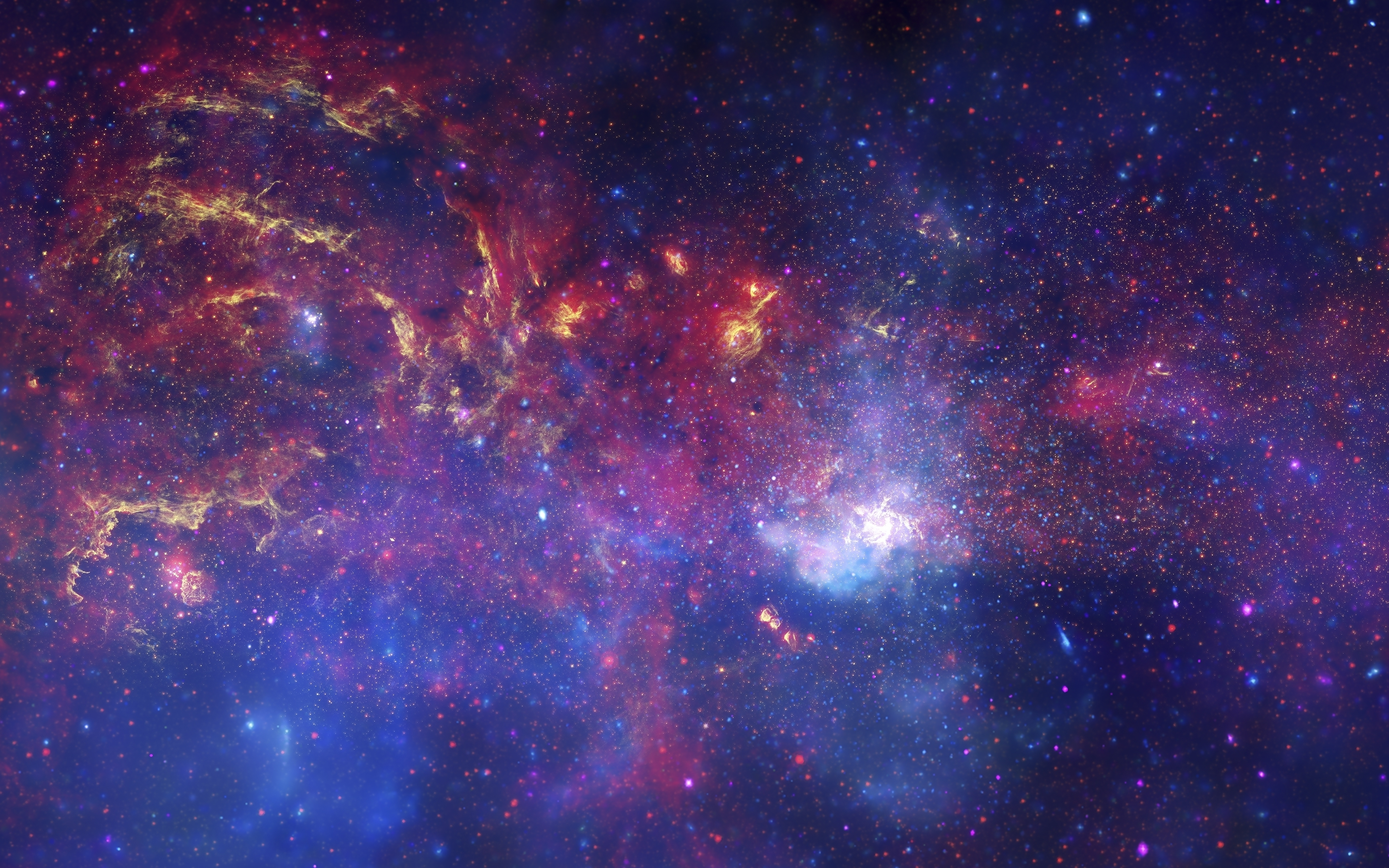 Vibrant Galactic Stellar Evolution 5K wallpaper