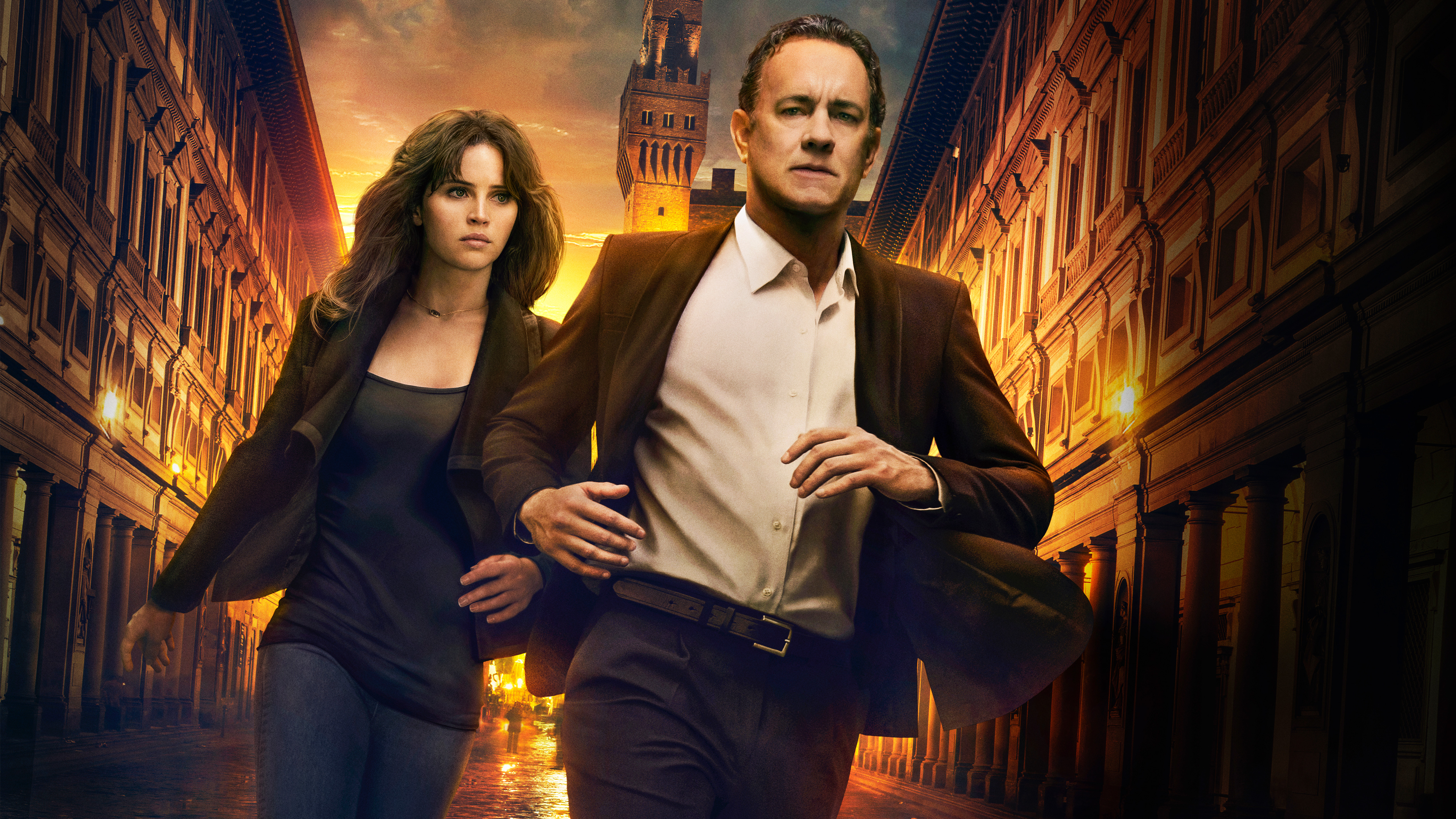 Inferno Tom Hanks Felicity Jones 5K wallpaper