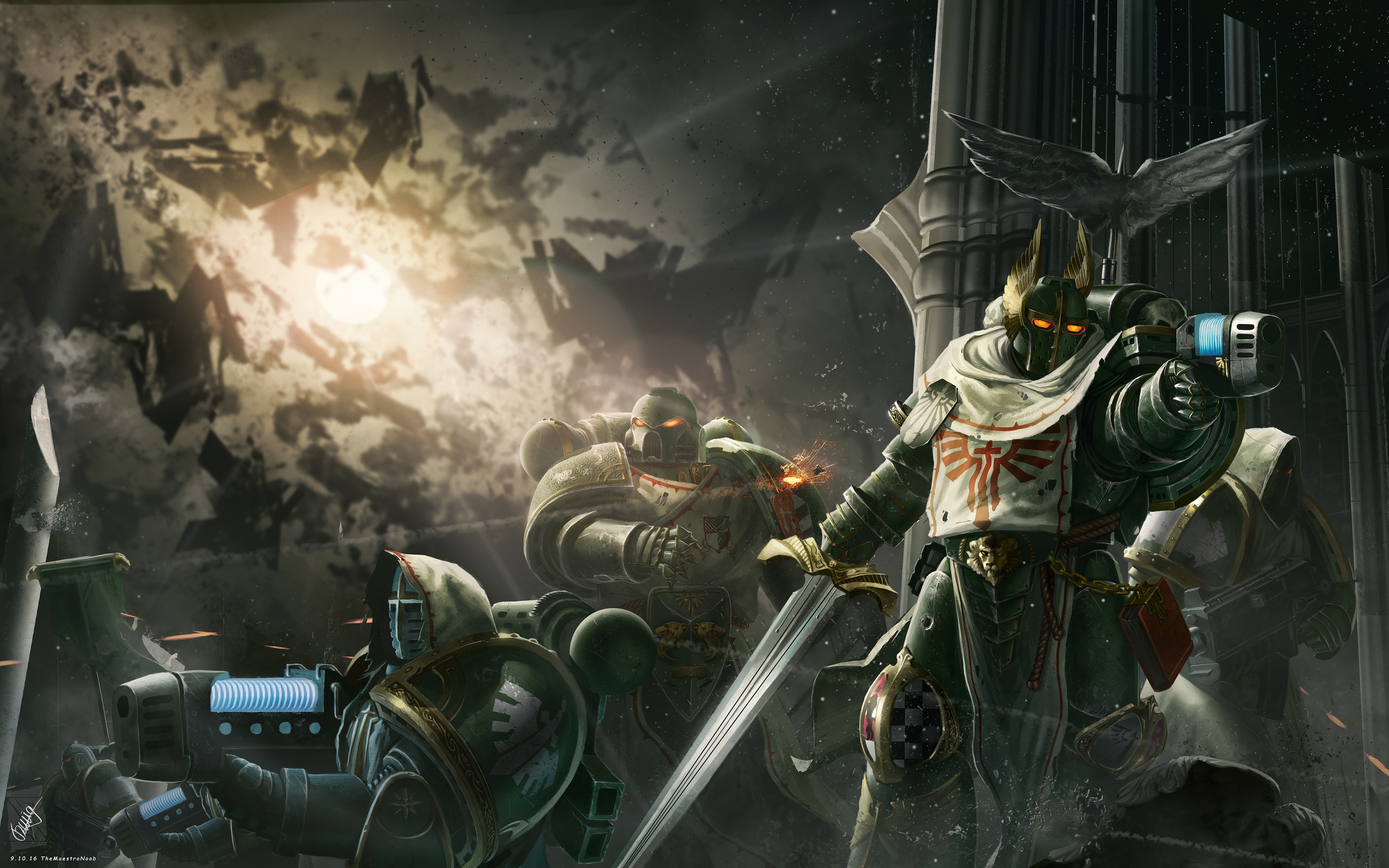 Dark Angels Warhammer 40k 4K wallpaper