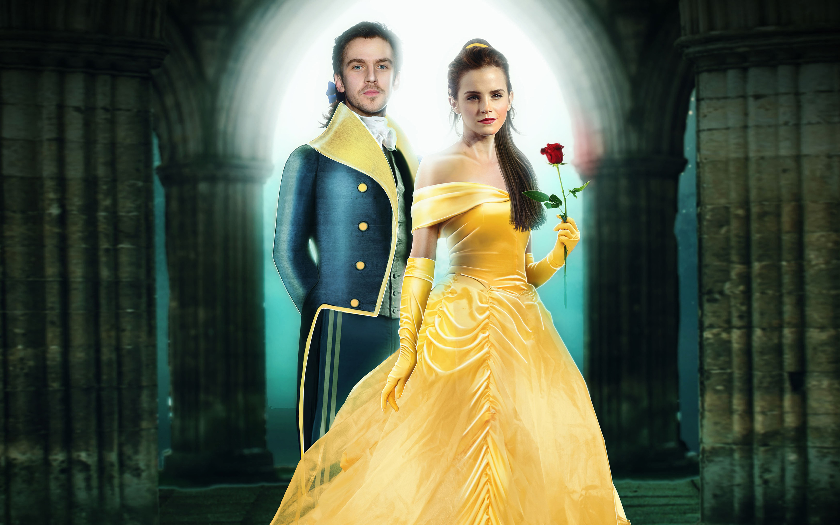 Dan Stevens Emma Watson Beauty And The Beast Hd Wallpaper
