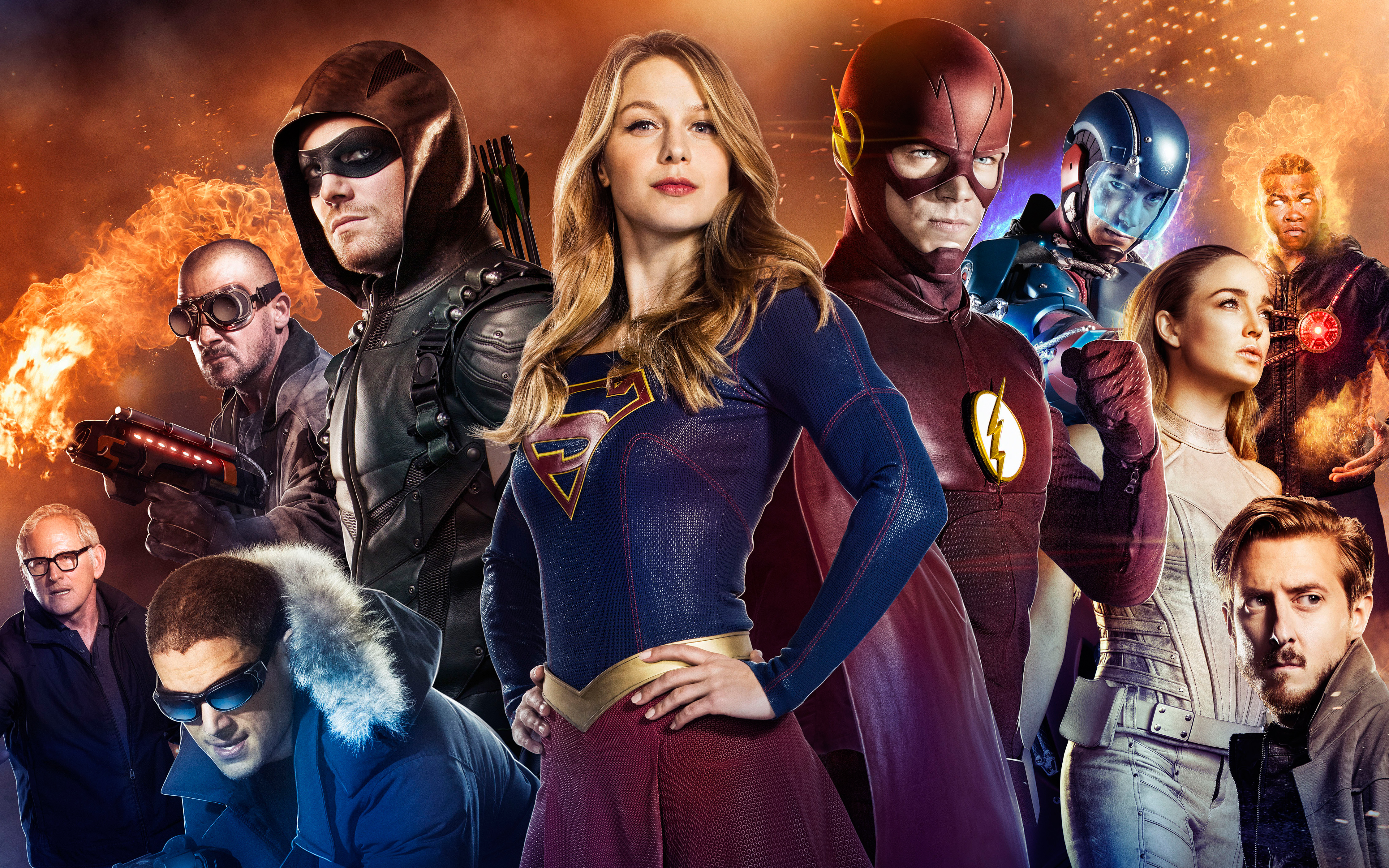 Arrow Supergirl Flash Legends Of Tomorrow 4K Wallpaper