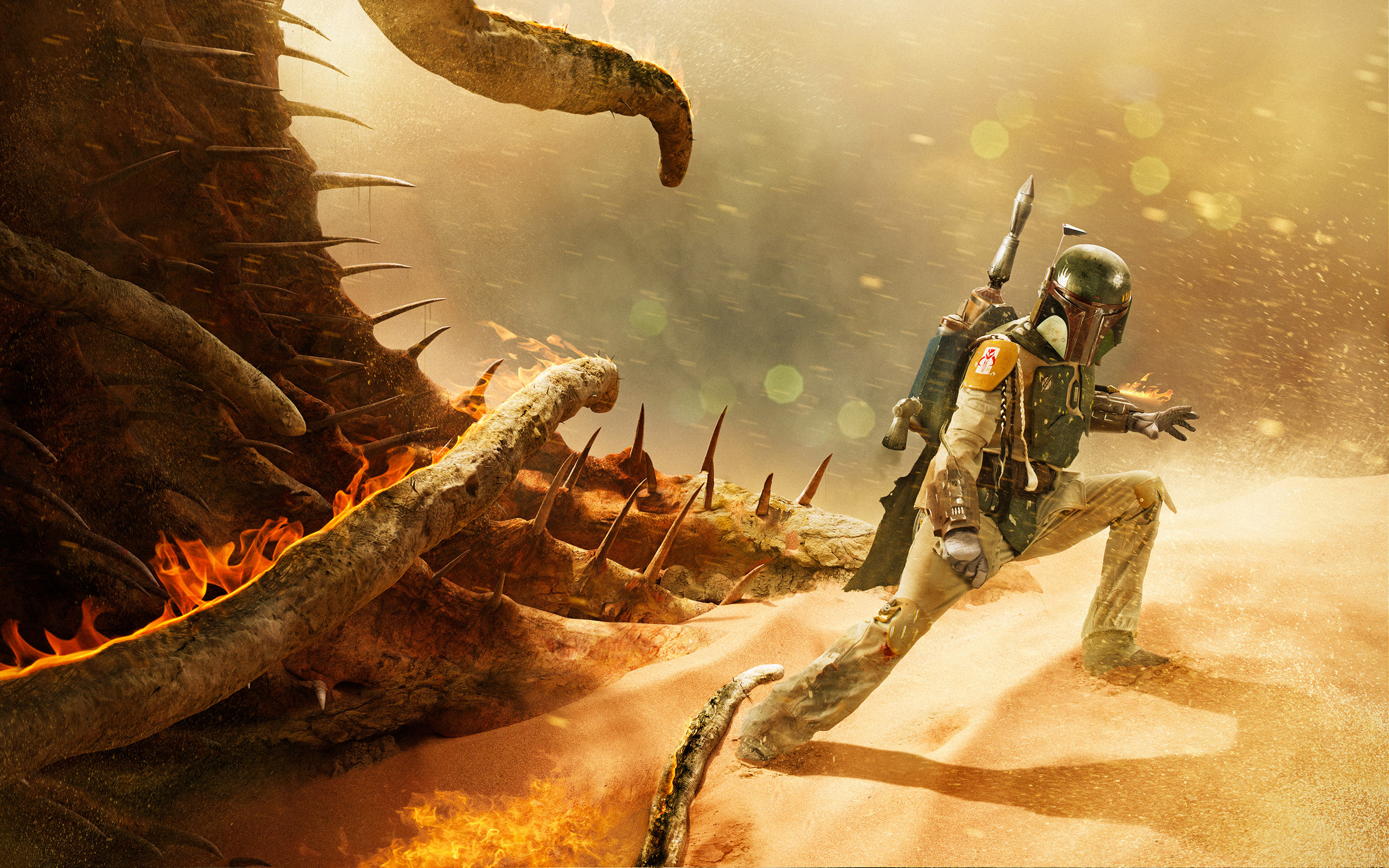 Boba Fett Return of the Jedi Artwork wallpaper