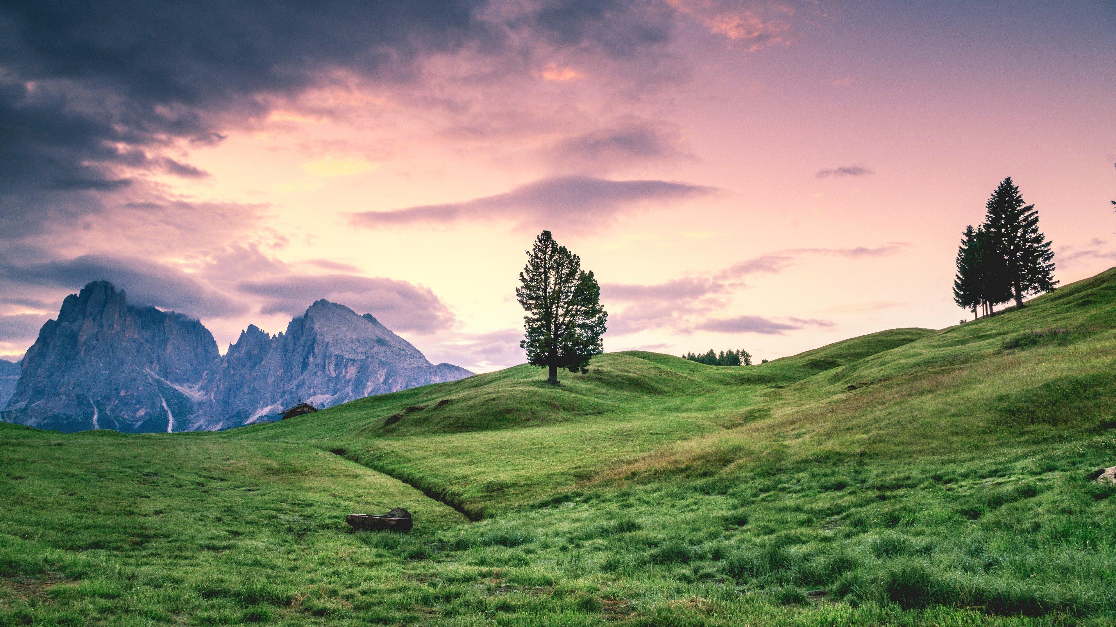 Green Grass Rocks And Beautiful Sky 4k Wallpaper