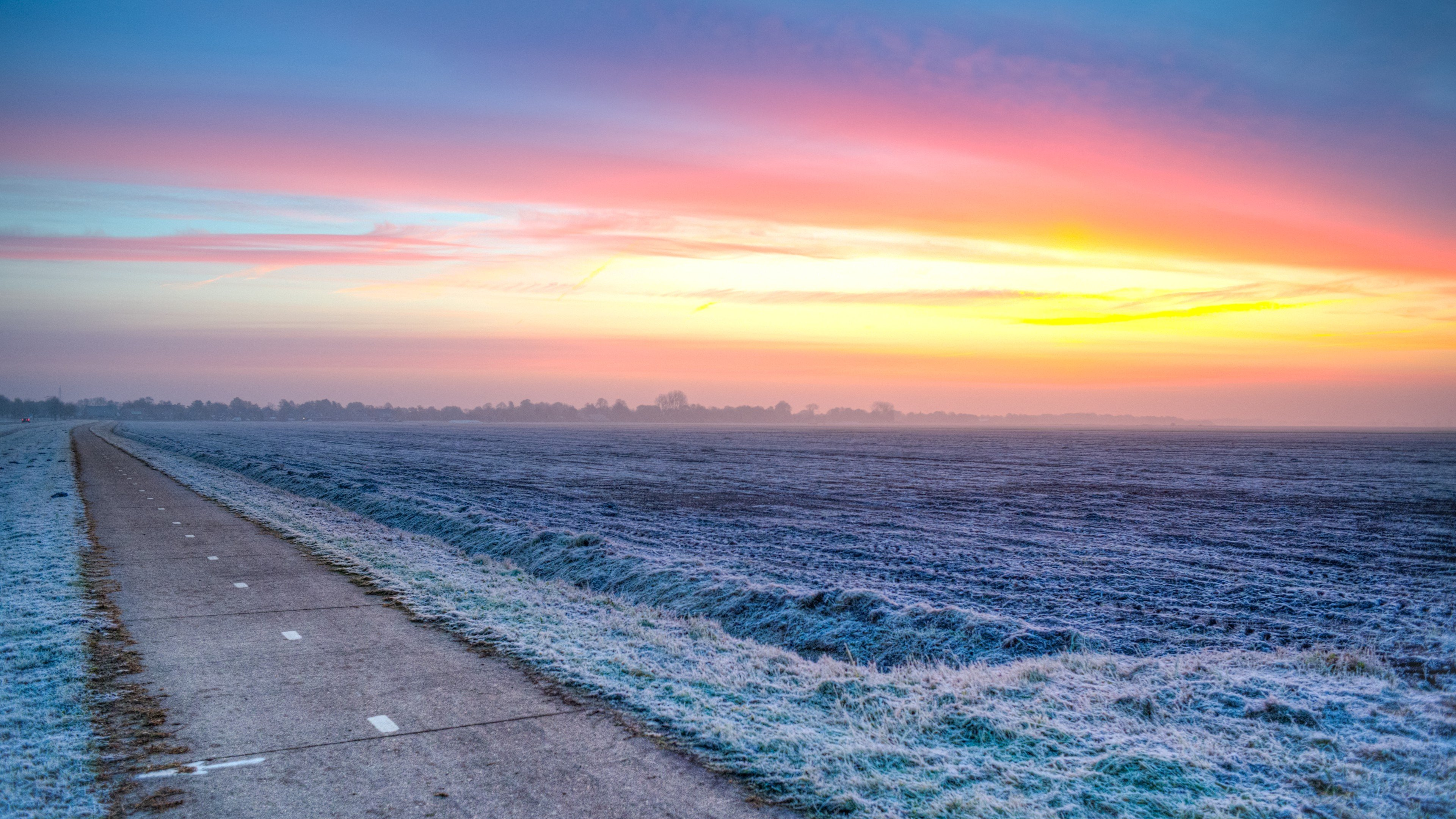 Landscape on a Frosty Morning wallpaper