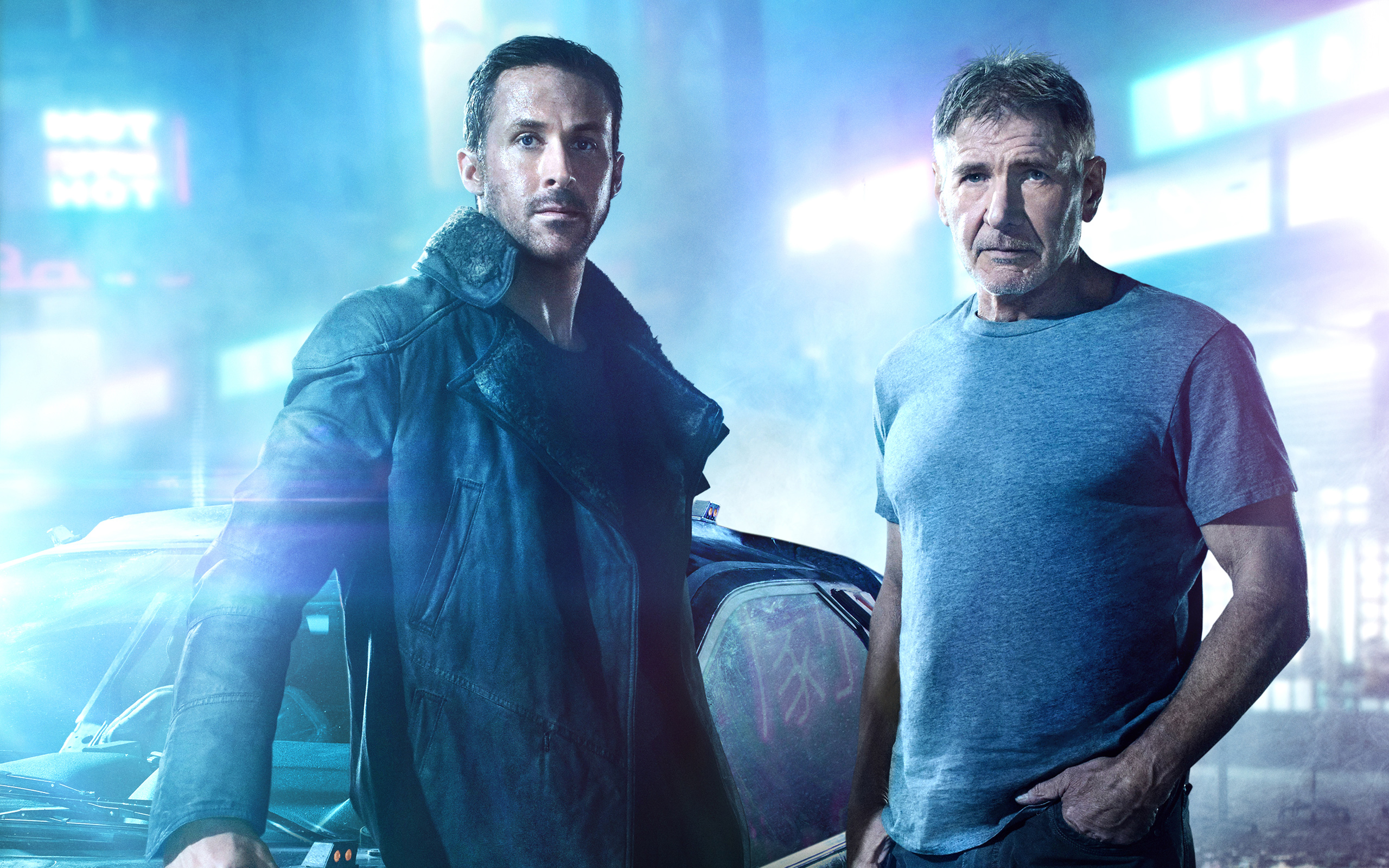 Blade Runner Ryan Gosling Harrison Ford wallpaper