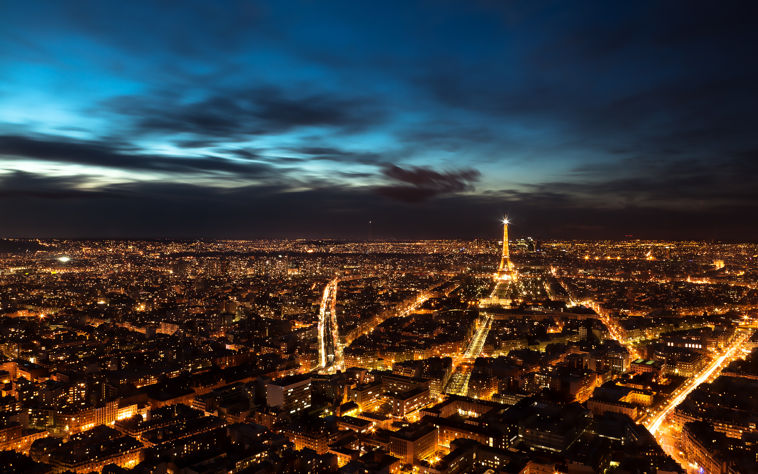 Paris Night Sky wallpaper