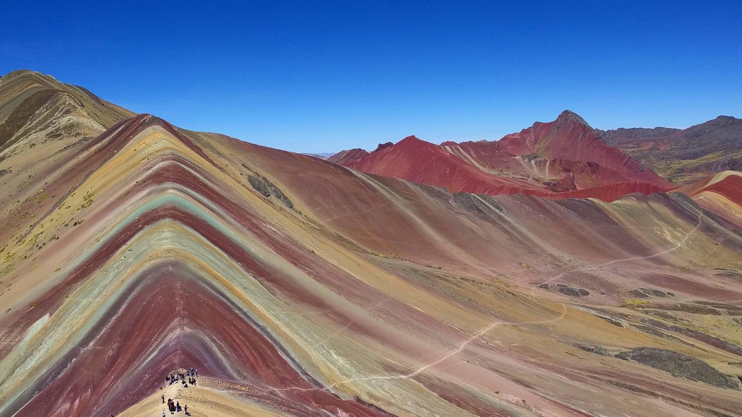 Willkanuta Mountain Range Peru HD Wallpaper