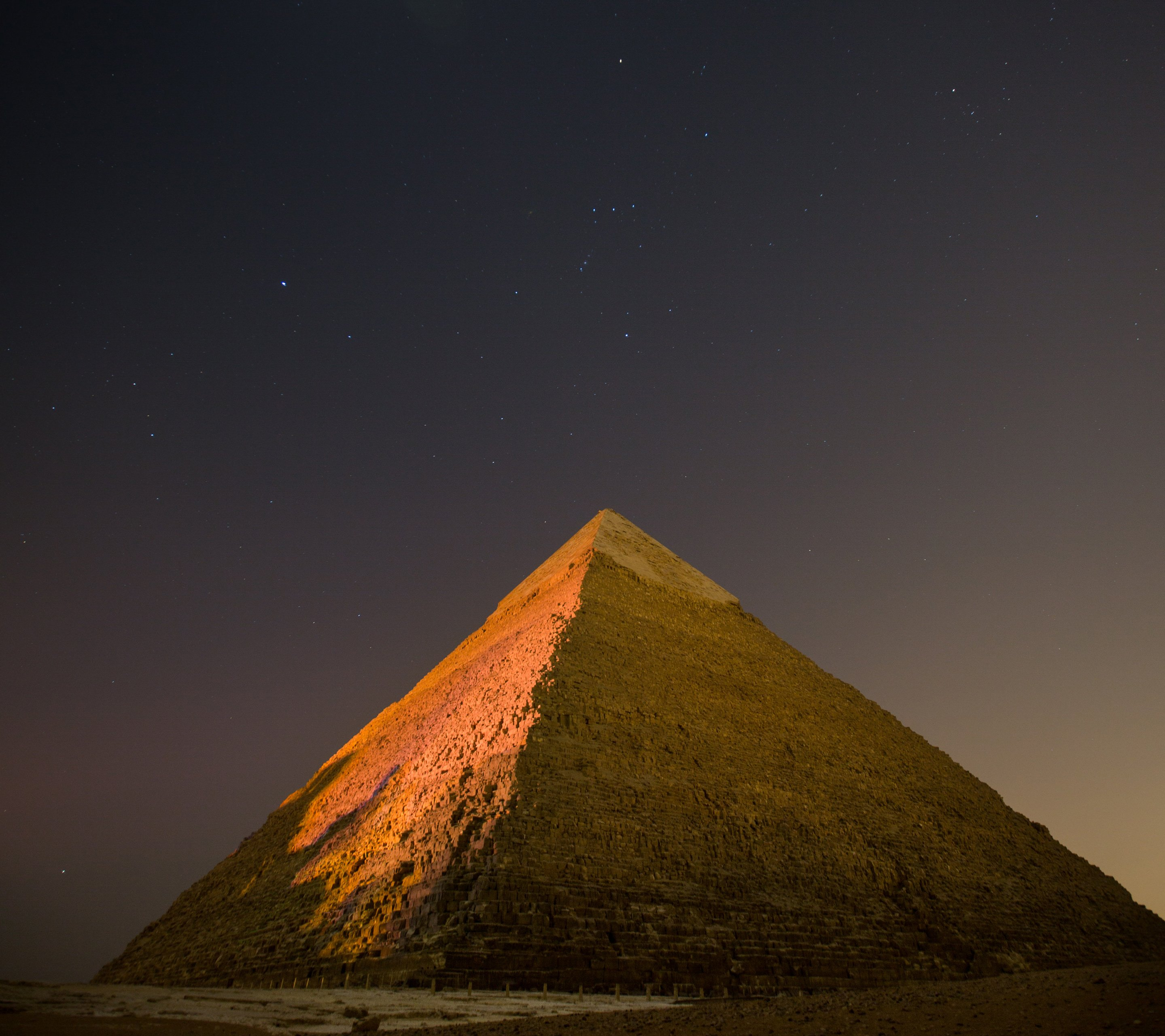 Night View of Pyramid Awesome wallpaper