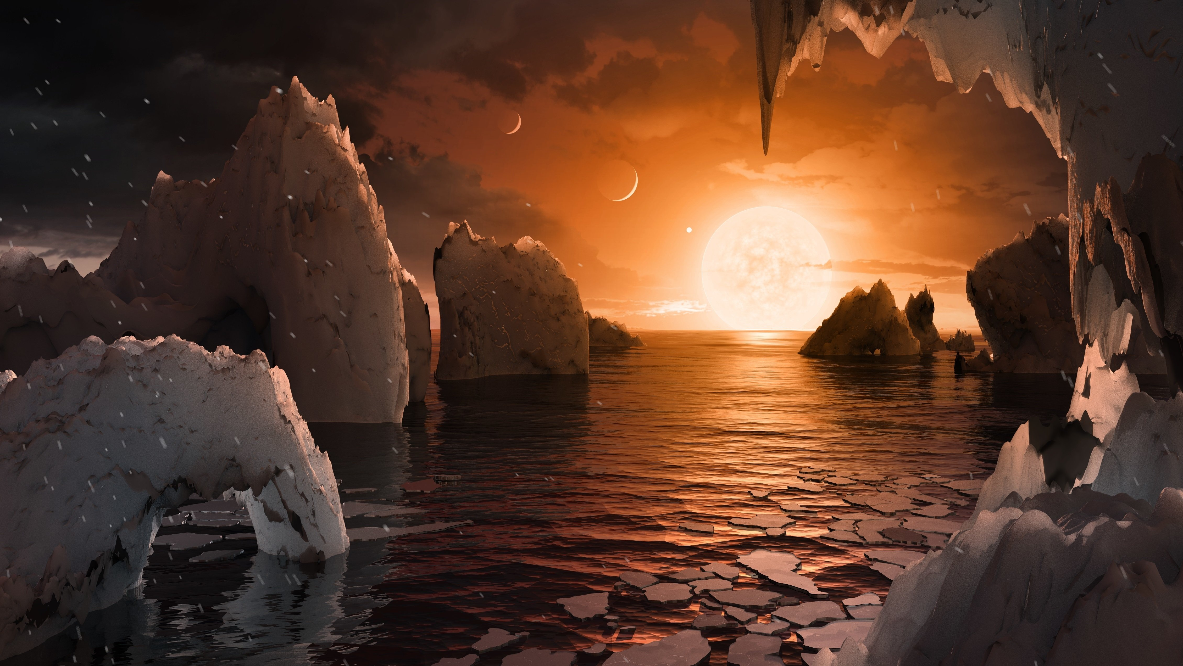 Exoplanet Sunrise wallpaper