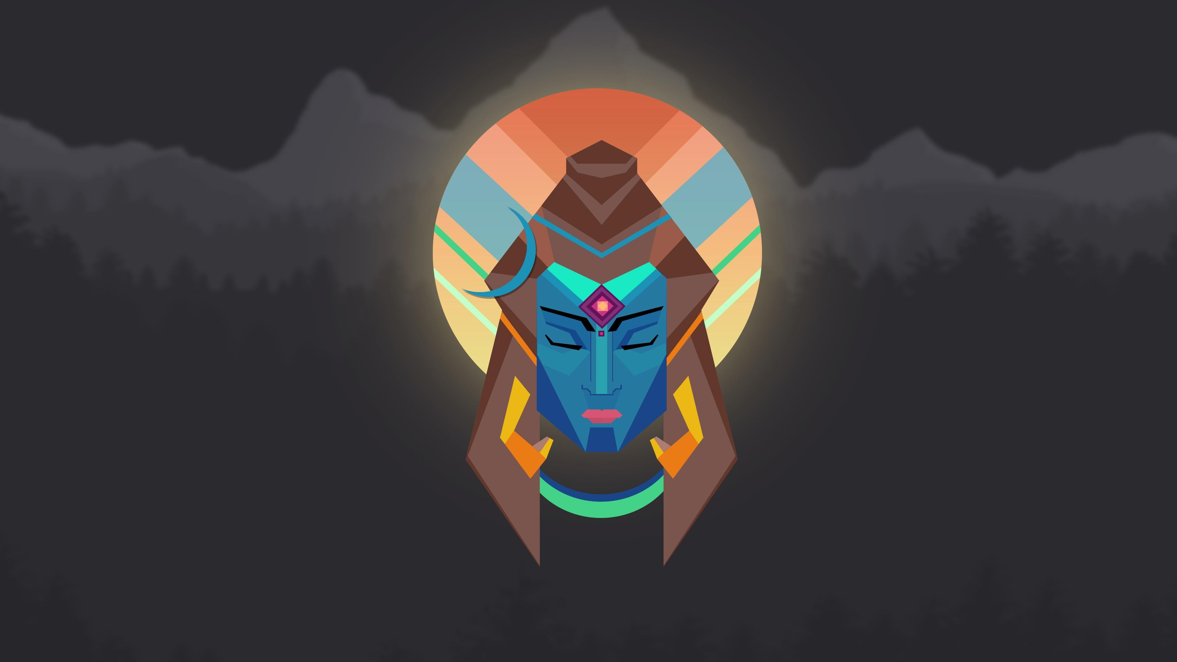 lord shiva minimal  oc wallpaper