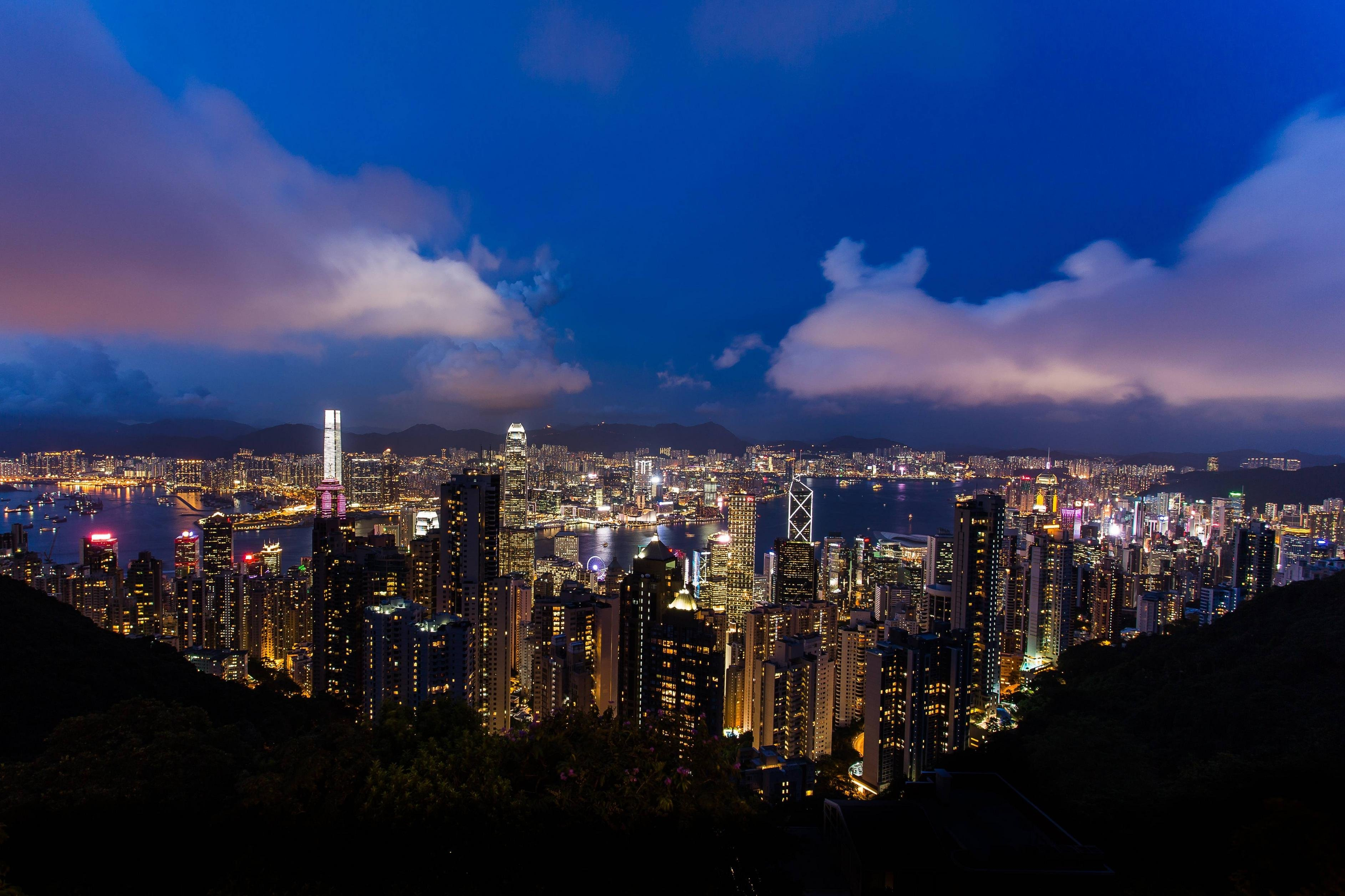 Hong Kong Skyline at Night wallpaper