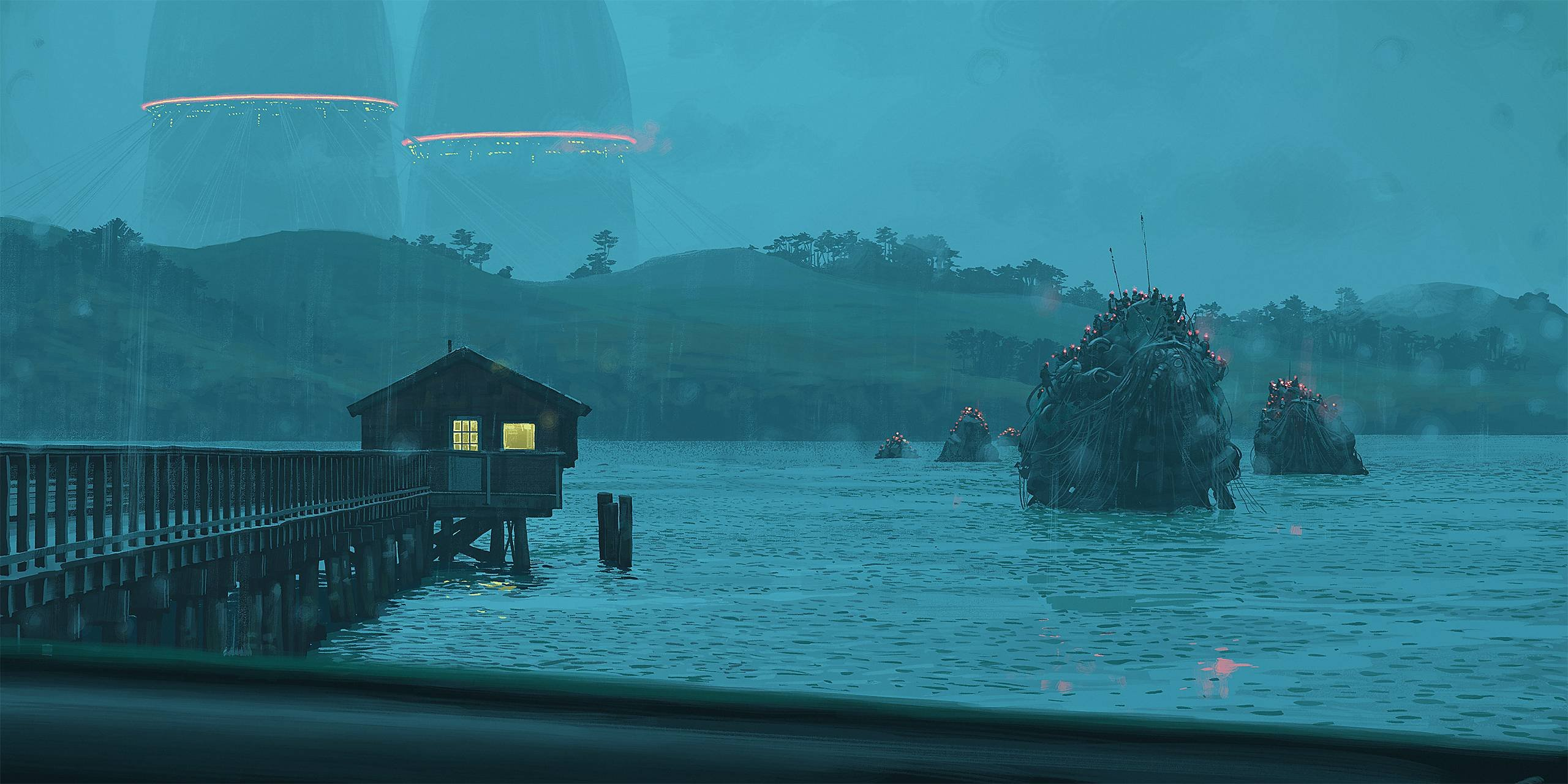 Stalenhag - Rafting Event wallpaper