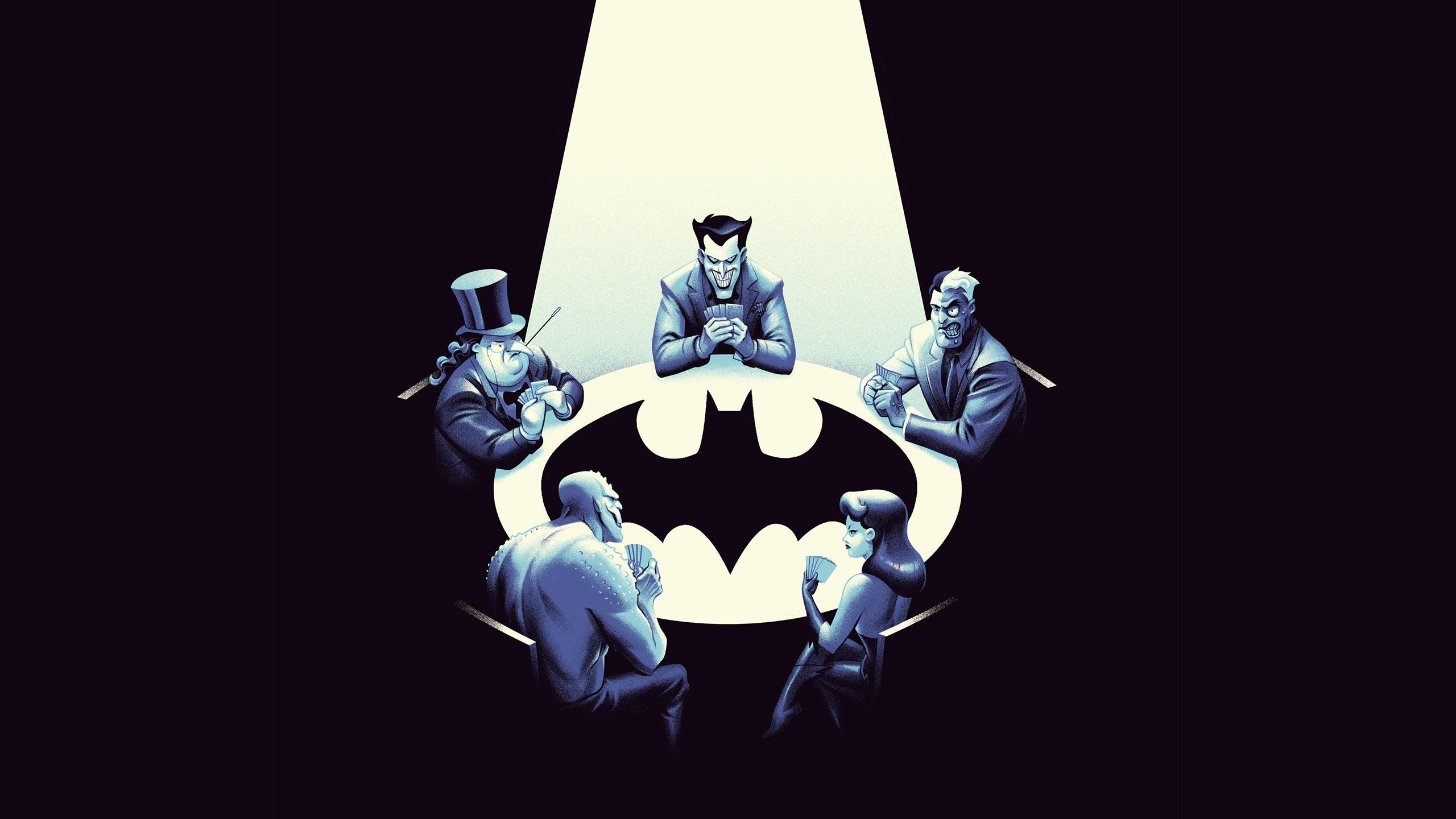 edited of the batman the animated series posters wallpaper