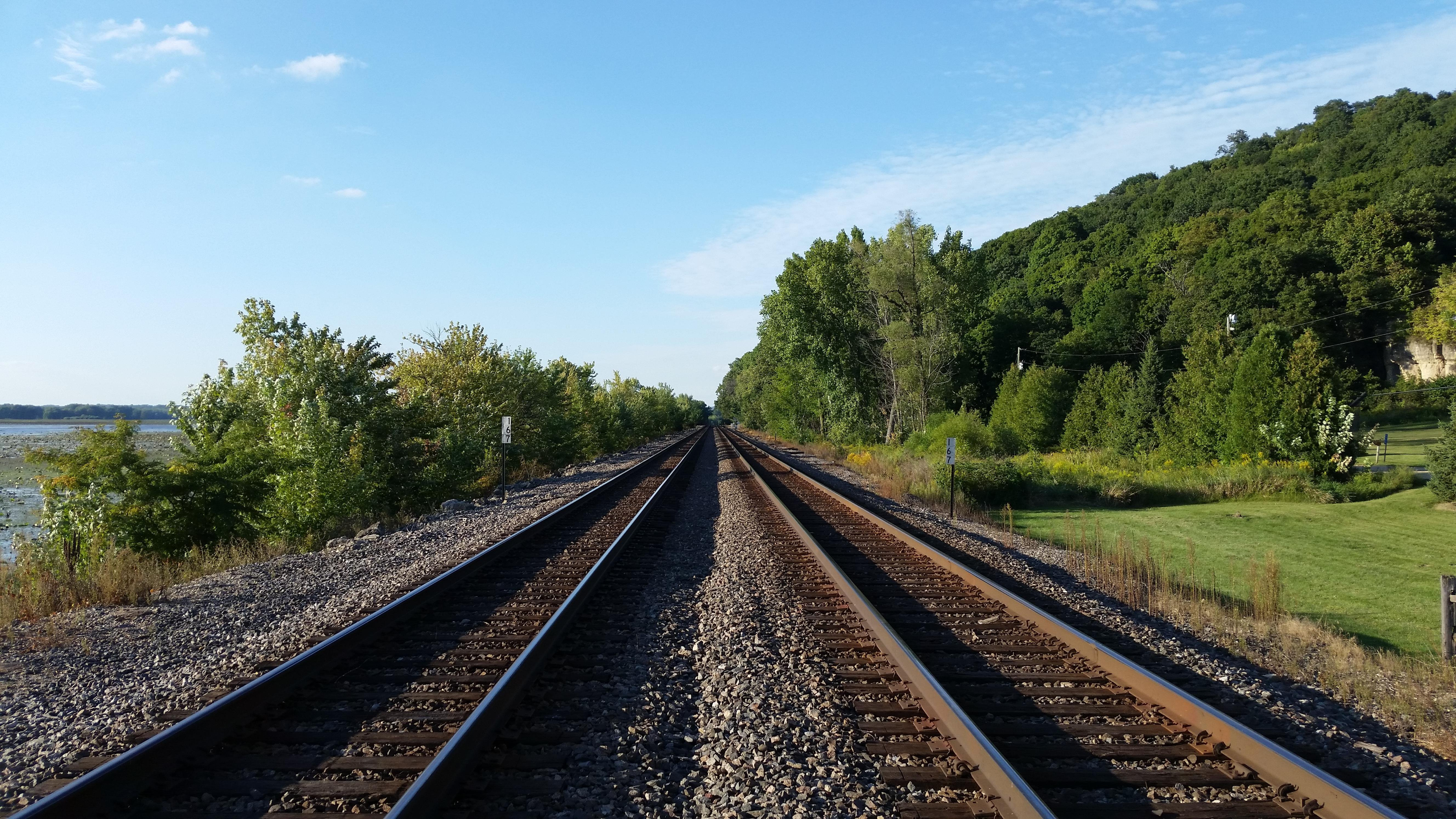 Railroad Nature Shot wallpaper