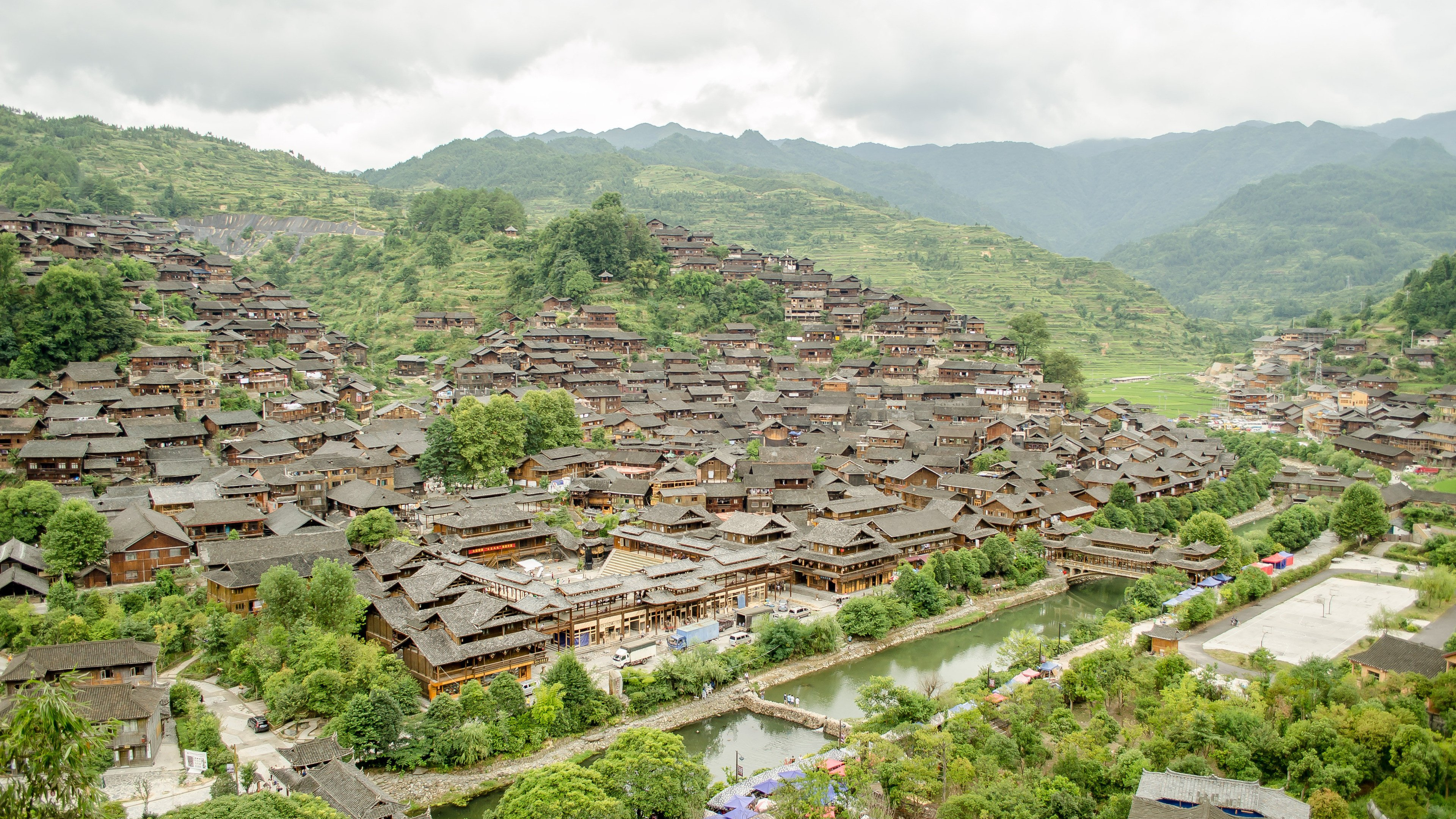 Miao People Ethnic Village China wallpaper