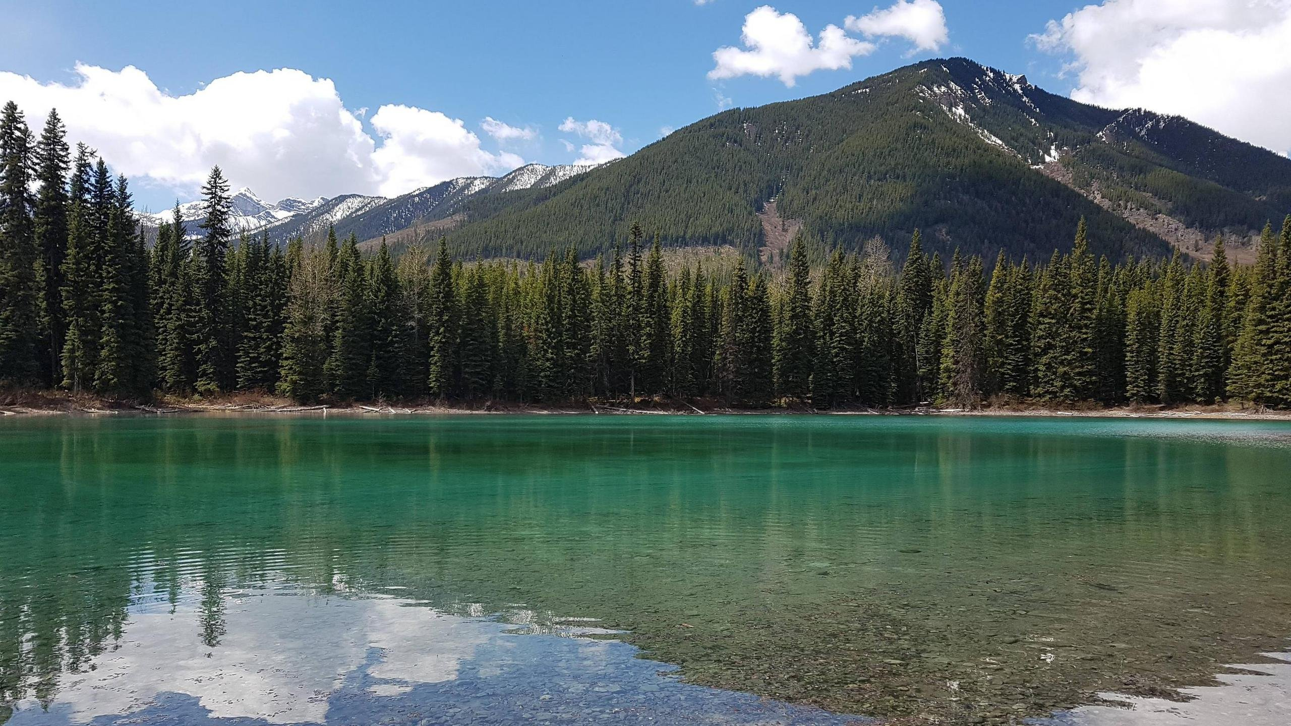 Blue Lake North of Elkford British Columbia wallpaper