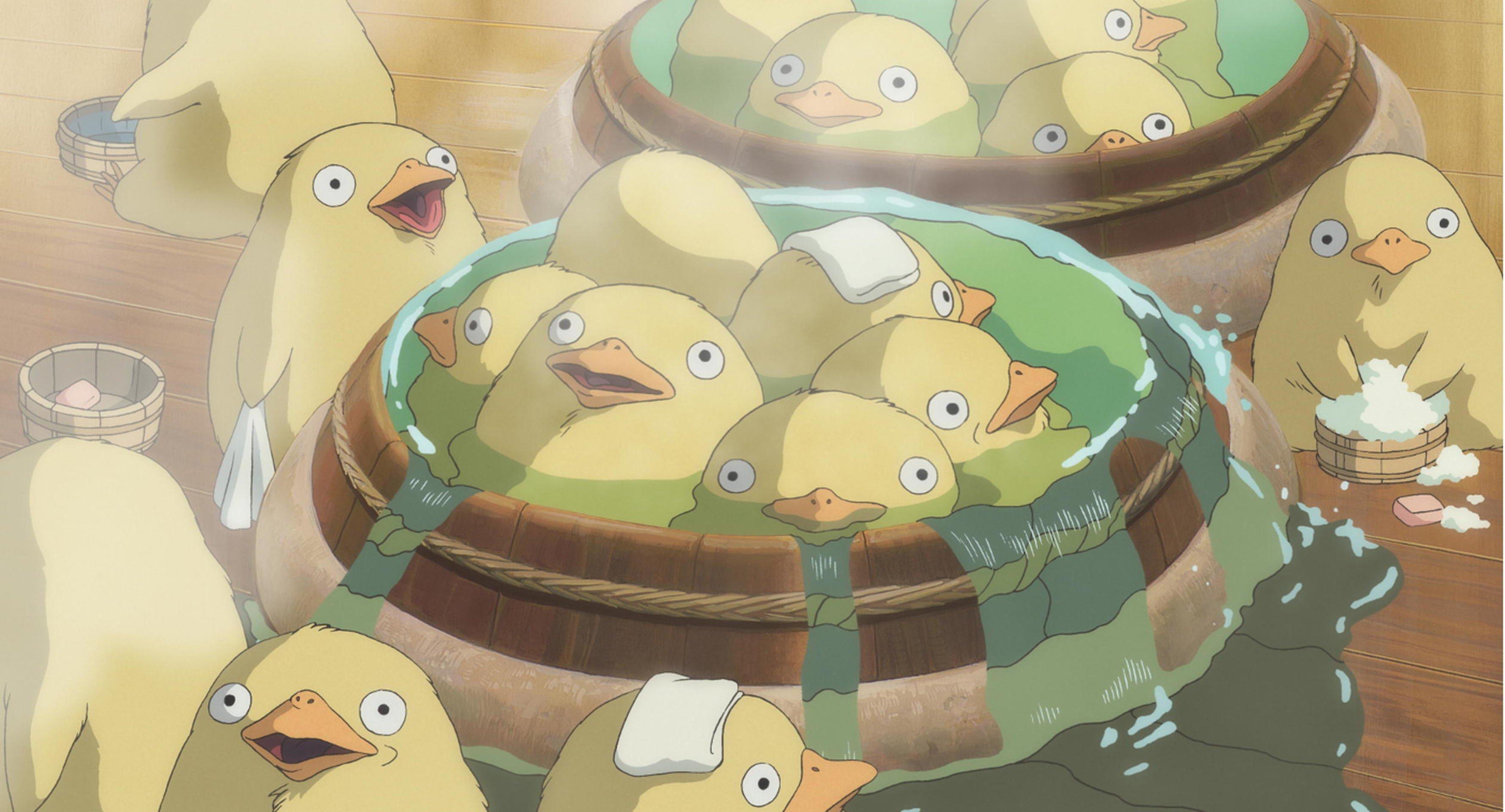 Duck Bath From Spirited Away Hd Wallpaper