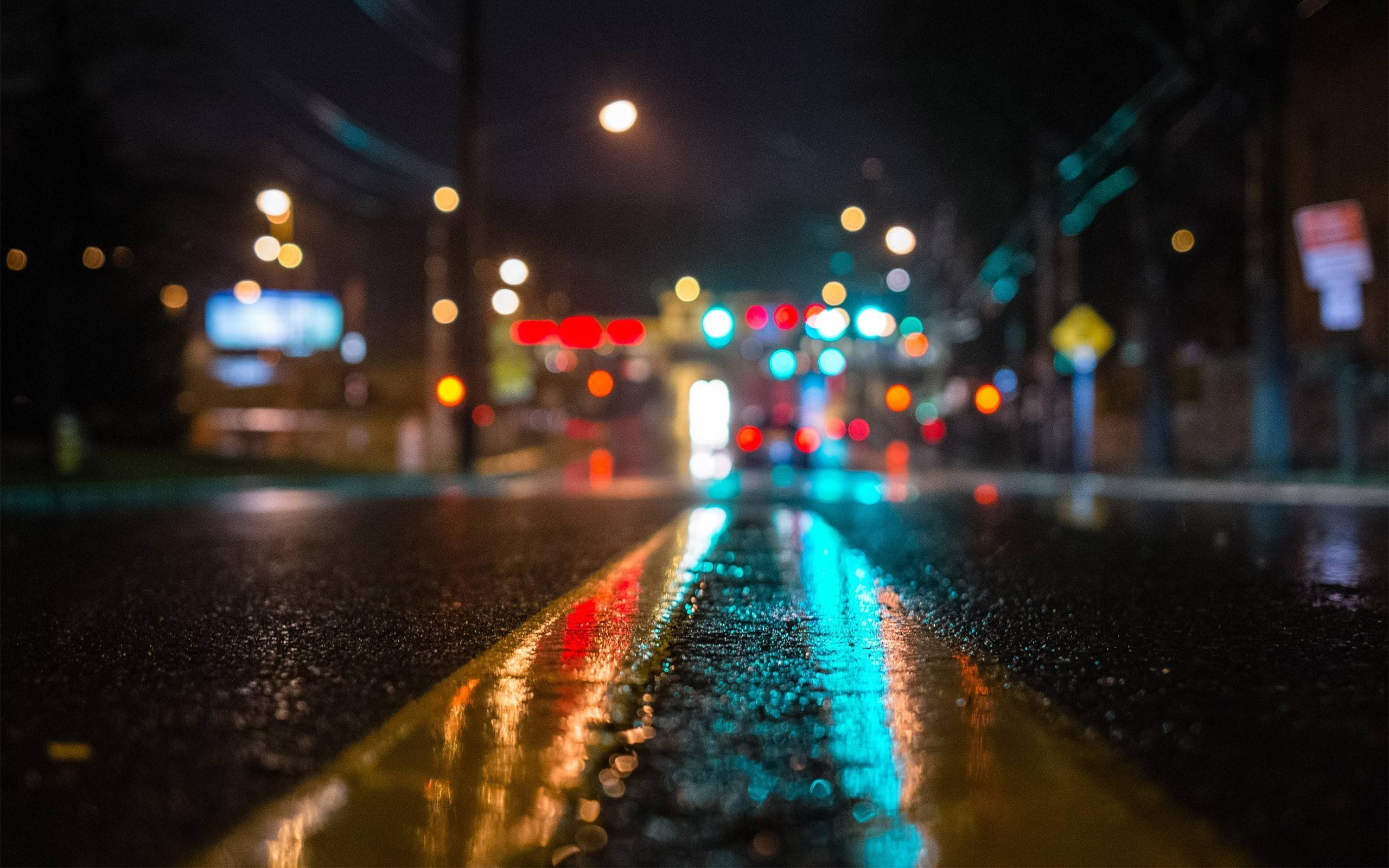 Street at Night wallpaper