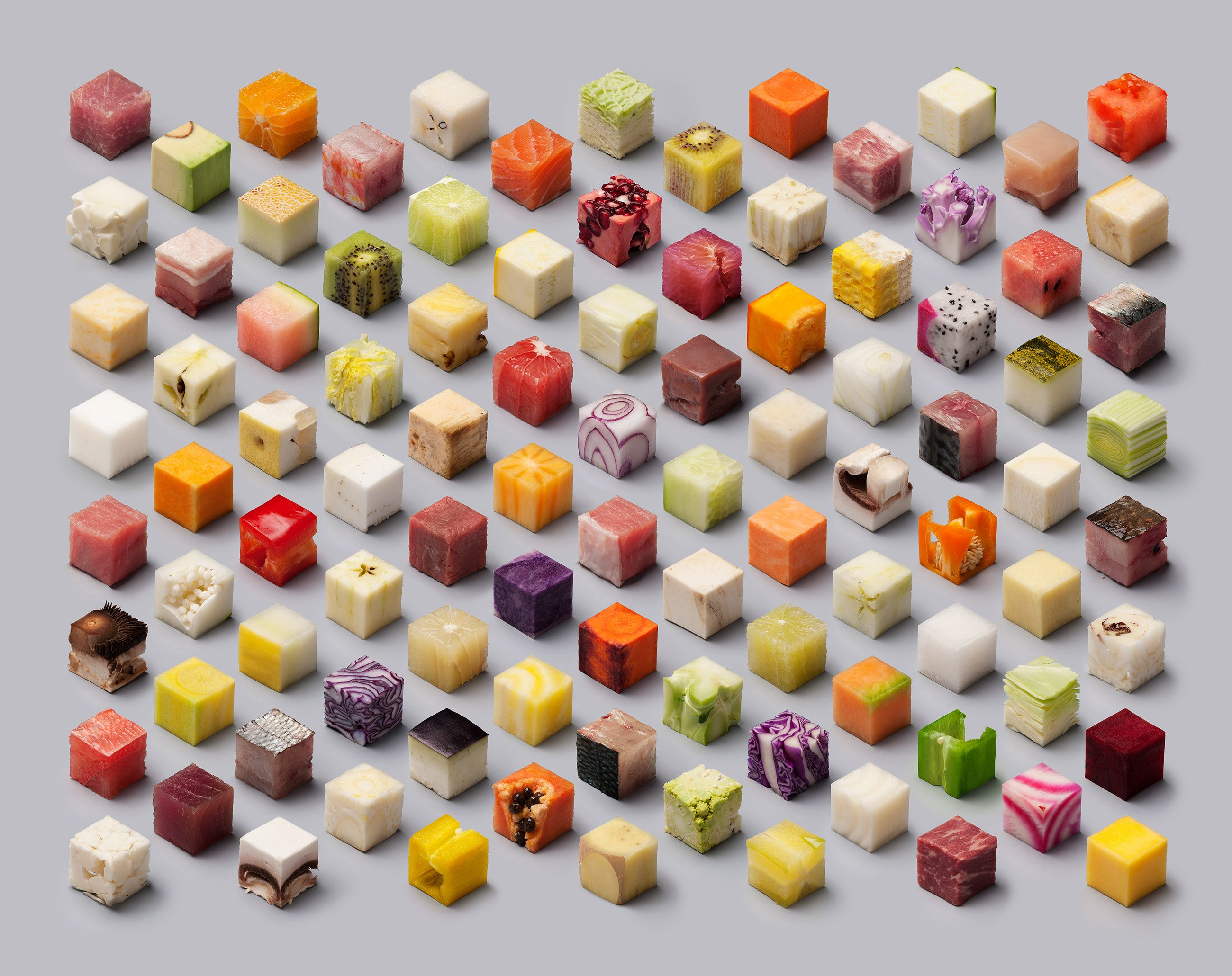 Food Cubes Hd Wallpaper
