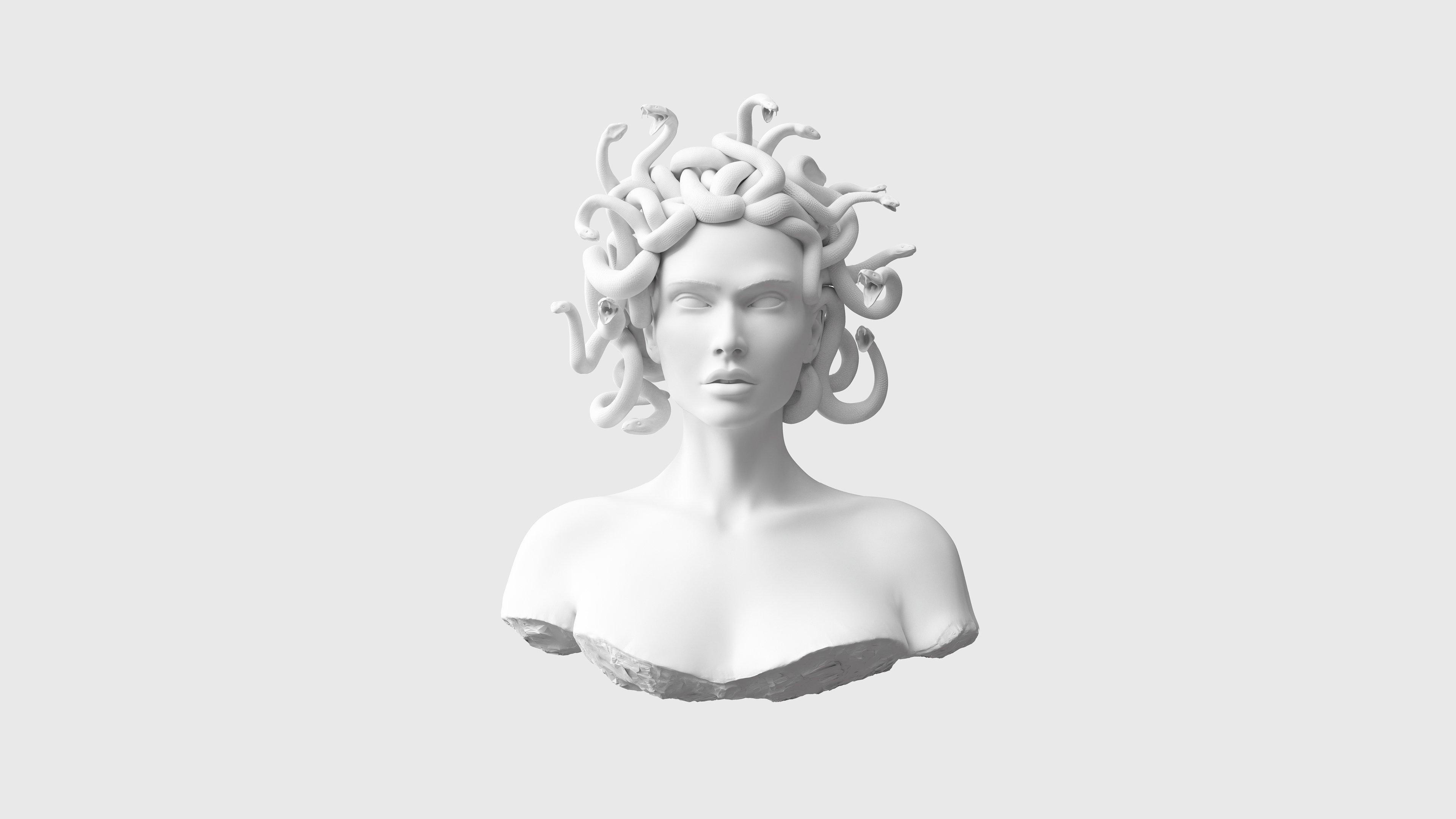 Medusa 4K wallpaper