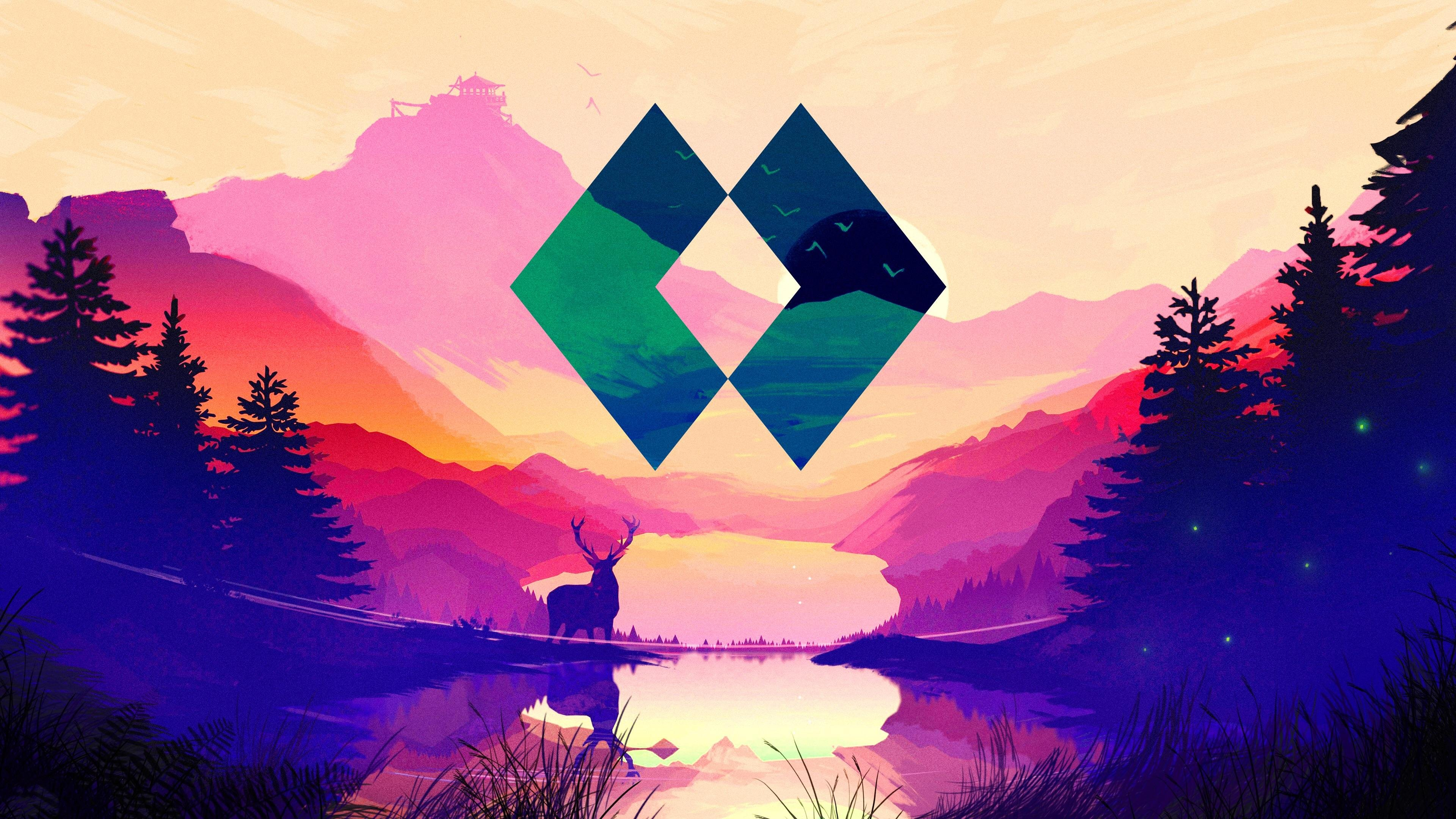 firewatch polyscape wallpaper