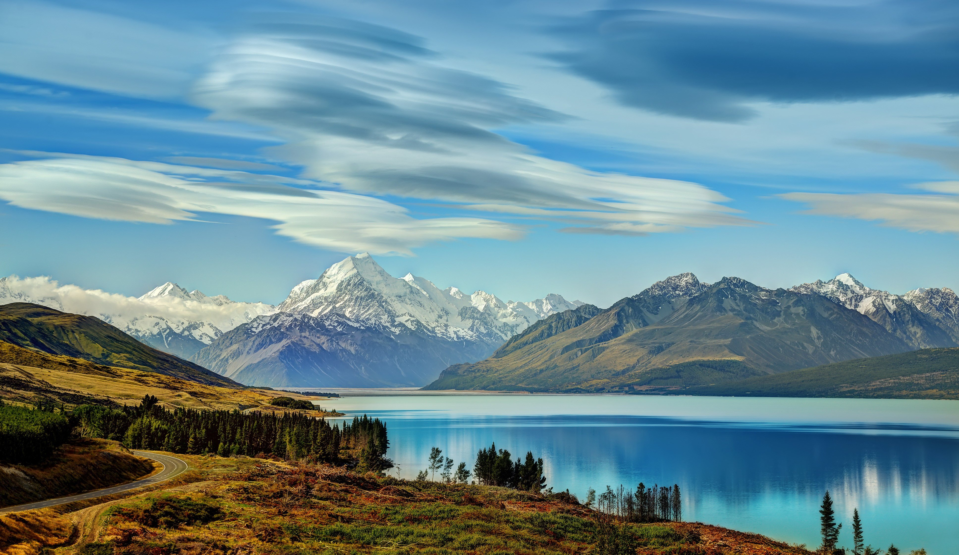 Beautiful Lake New Zealand Mountains wallpaper