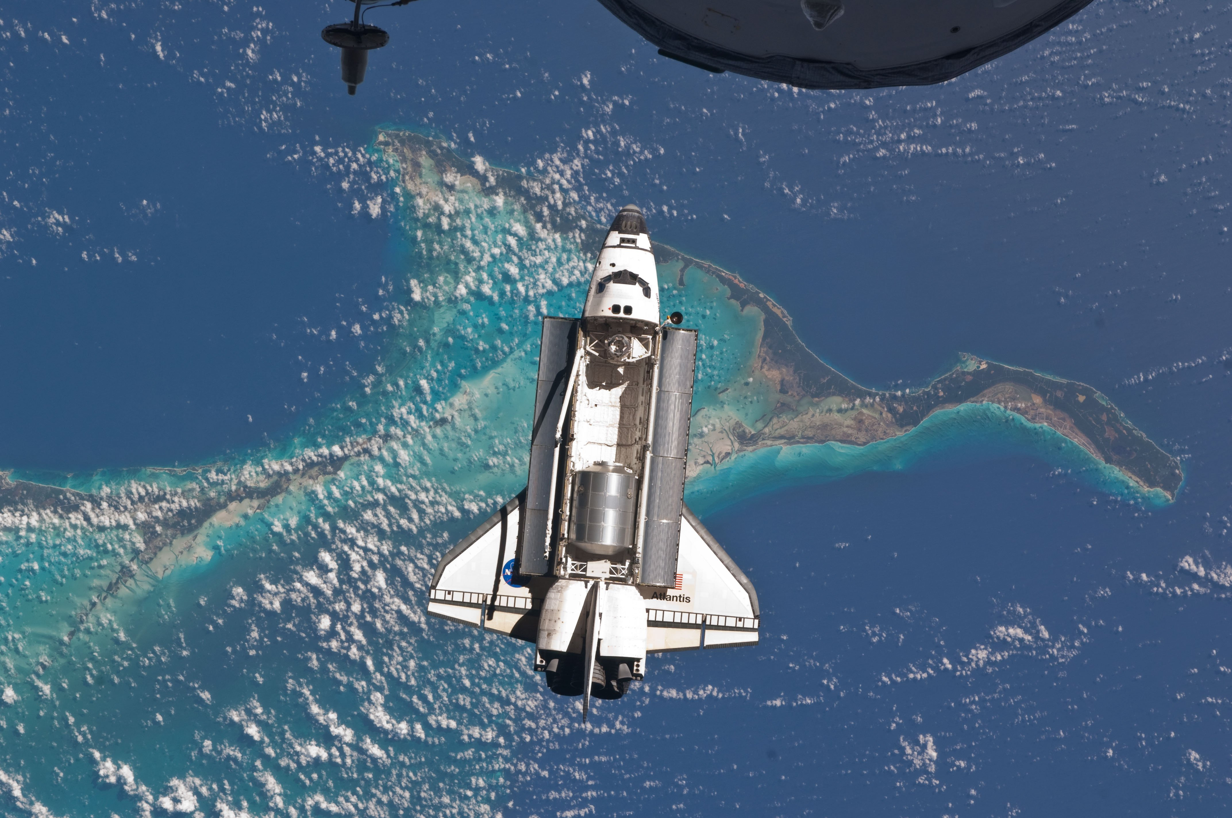 The Space Shuttle From Above wallpaper