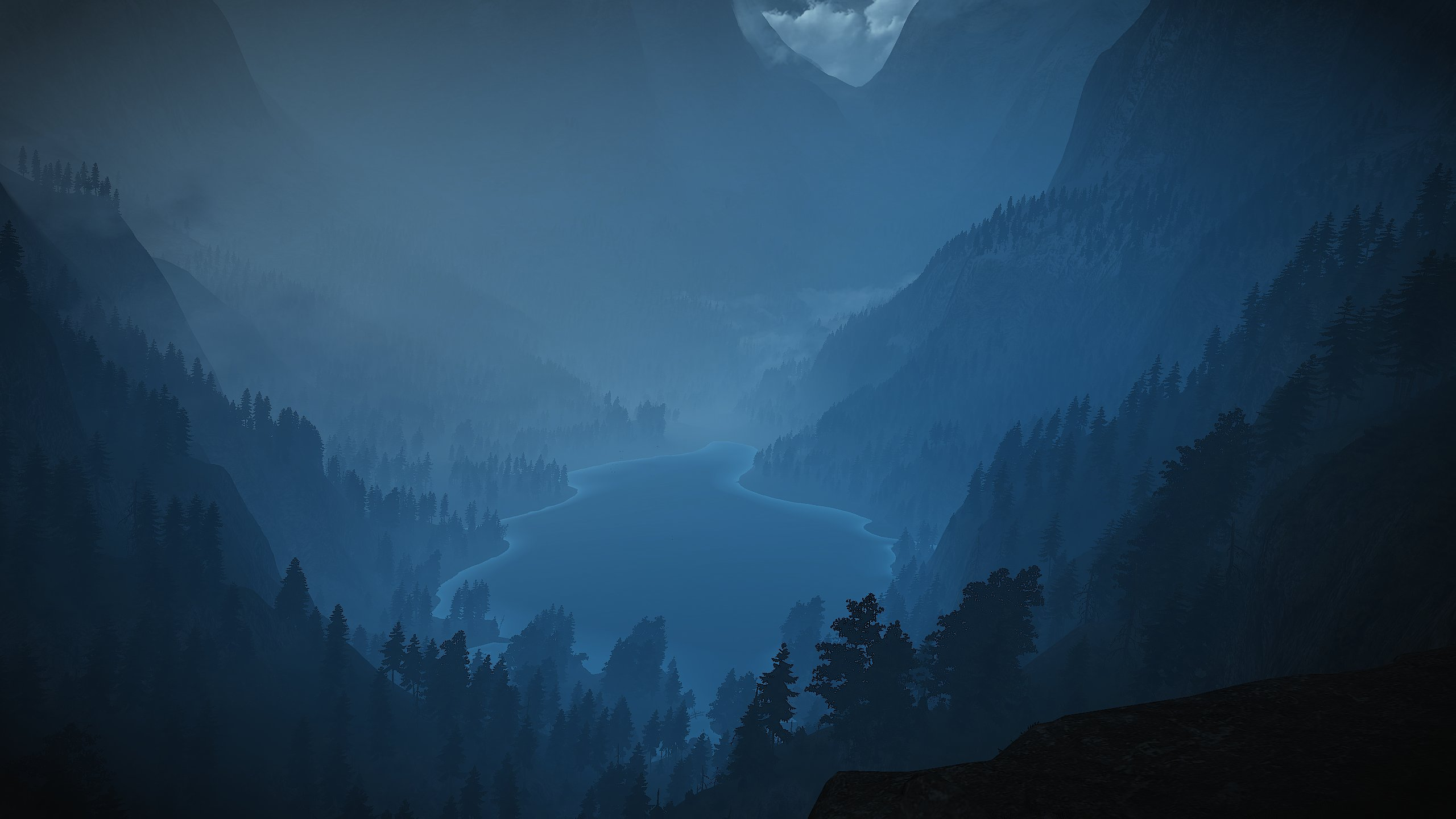Witcher Blue Lake wallpaper