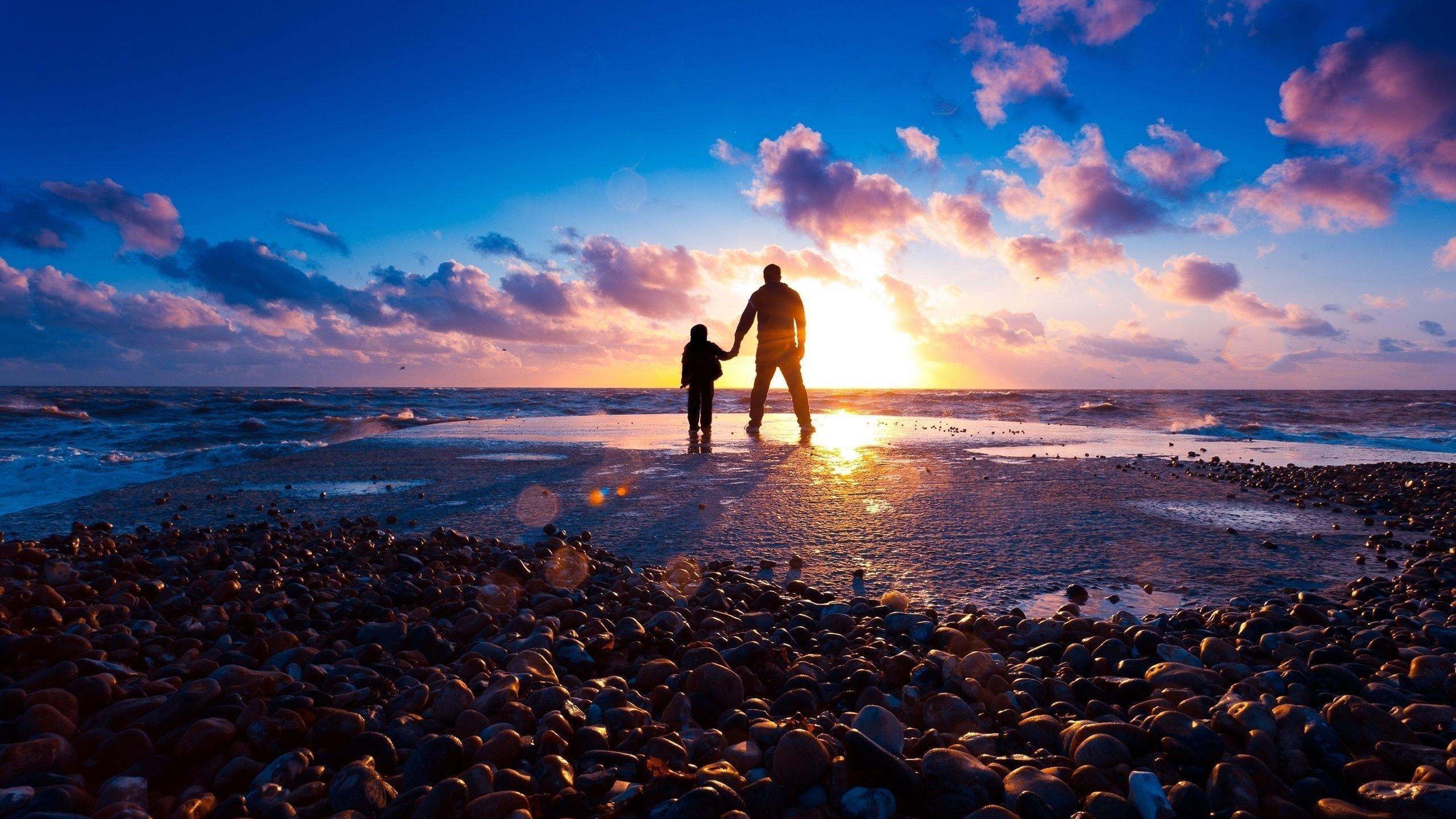 a evening sea beach hd wallpaper