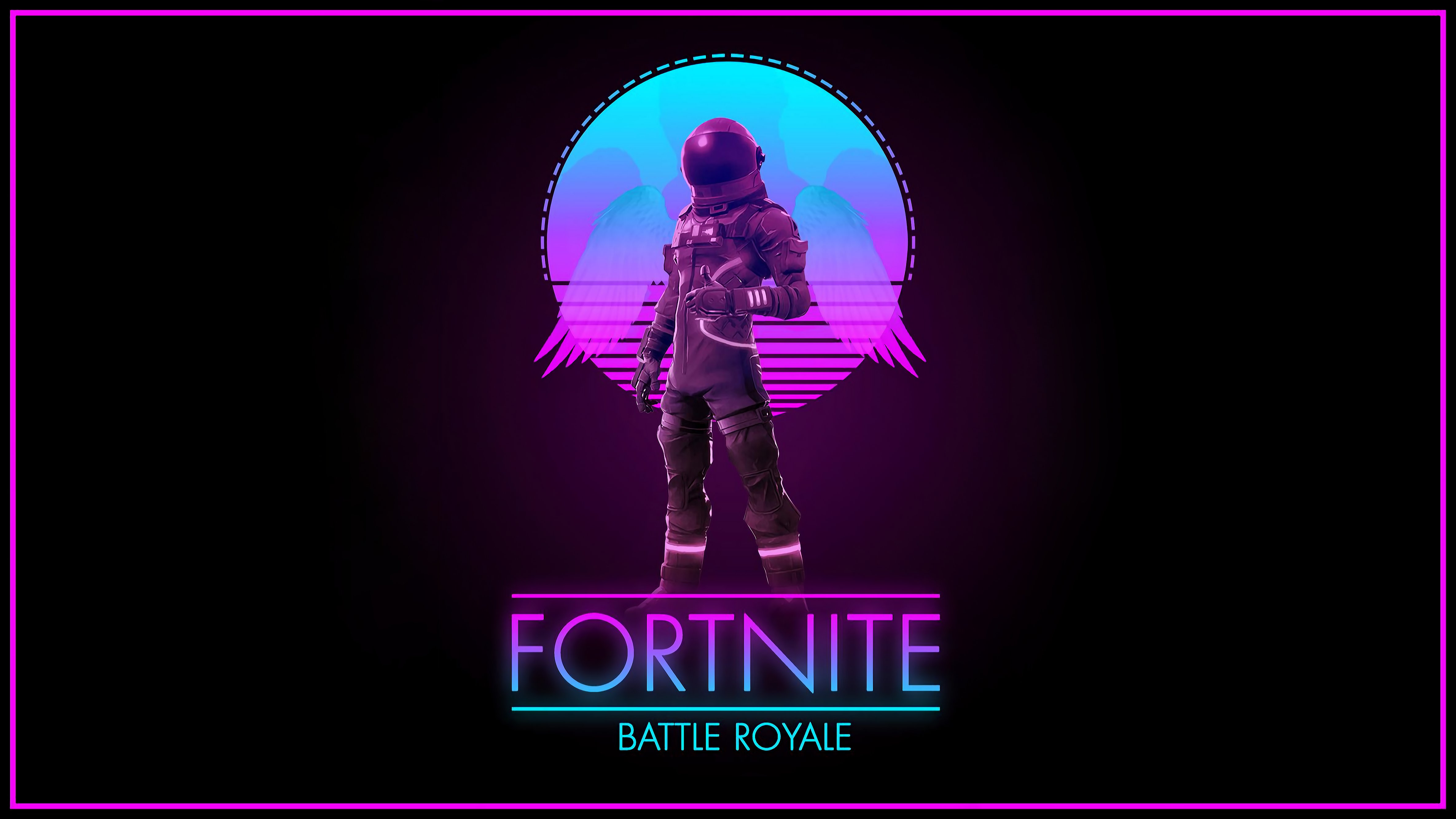 Synthwave Royale 4K Wallpaper