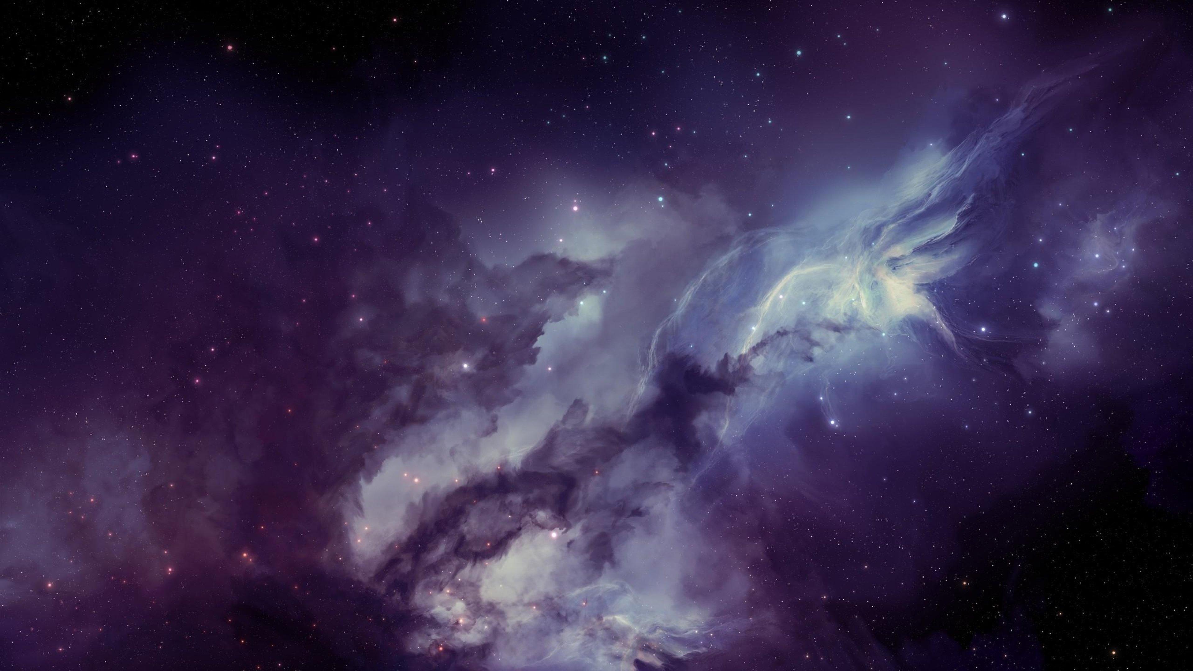 galaxy nebula blurring stars wallpaper
