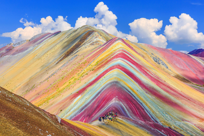 Beautiful Painted Mountains Peru 4K Wallpaper