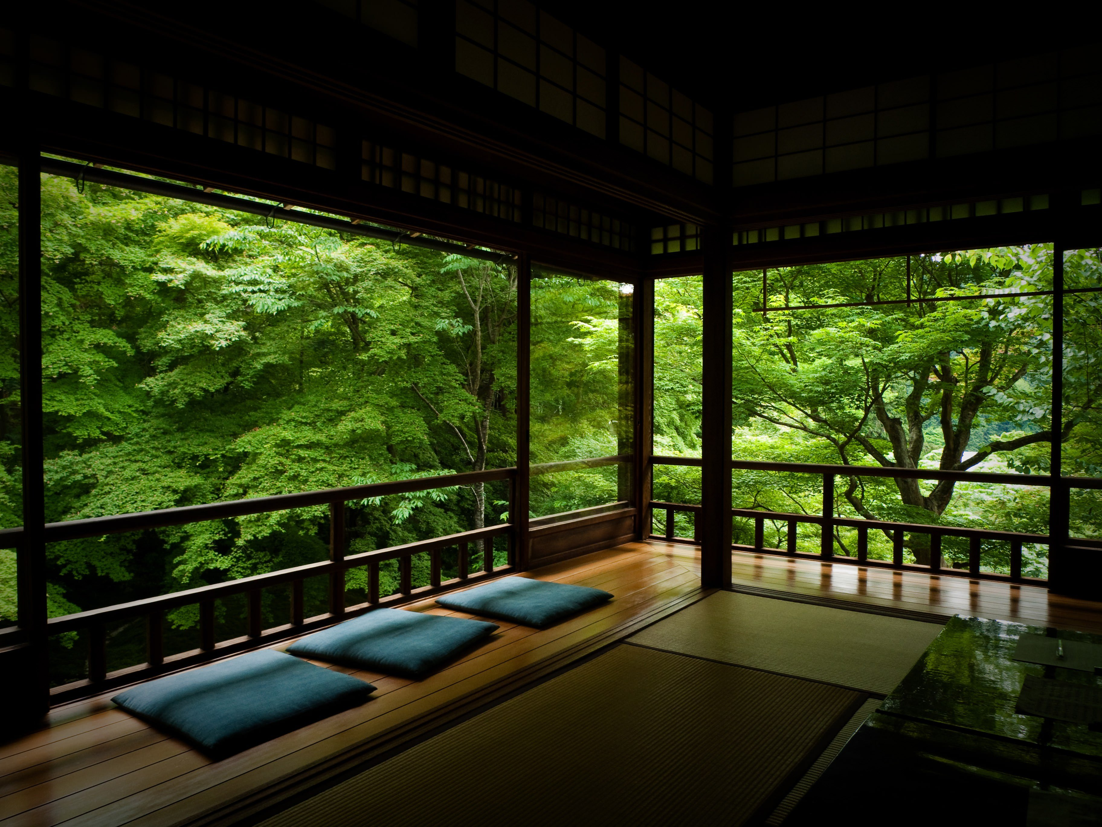 Japanese Tea Room Hd Wallpaper