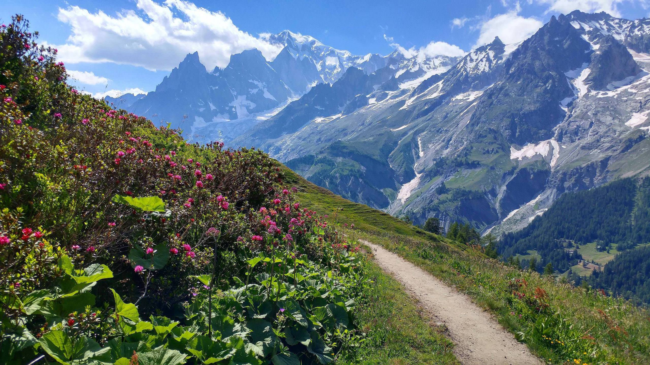 Somewhere Above Courmayeur Italy On The Tour Du Mont Blanc