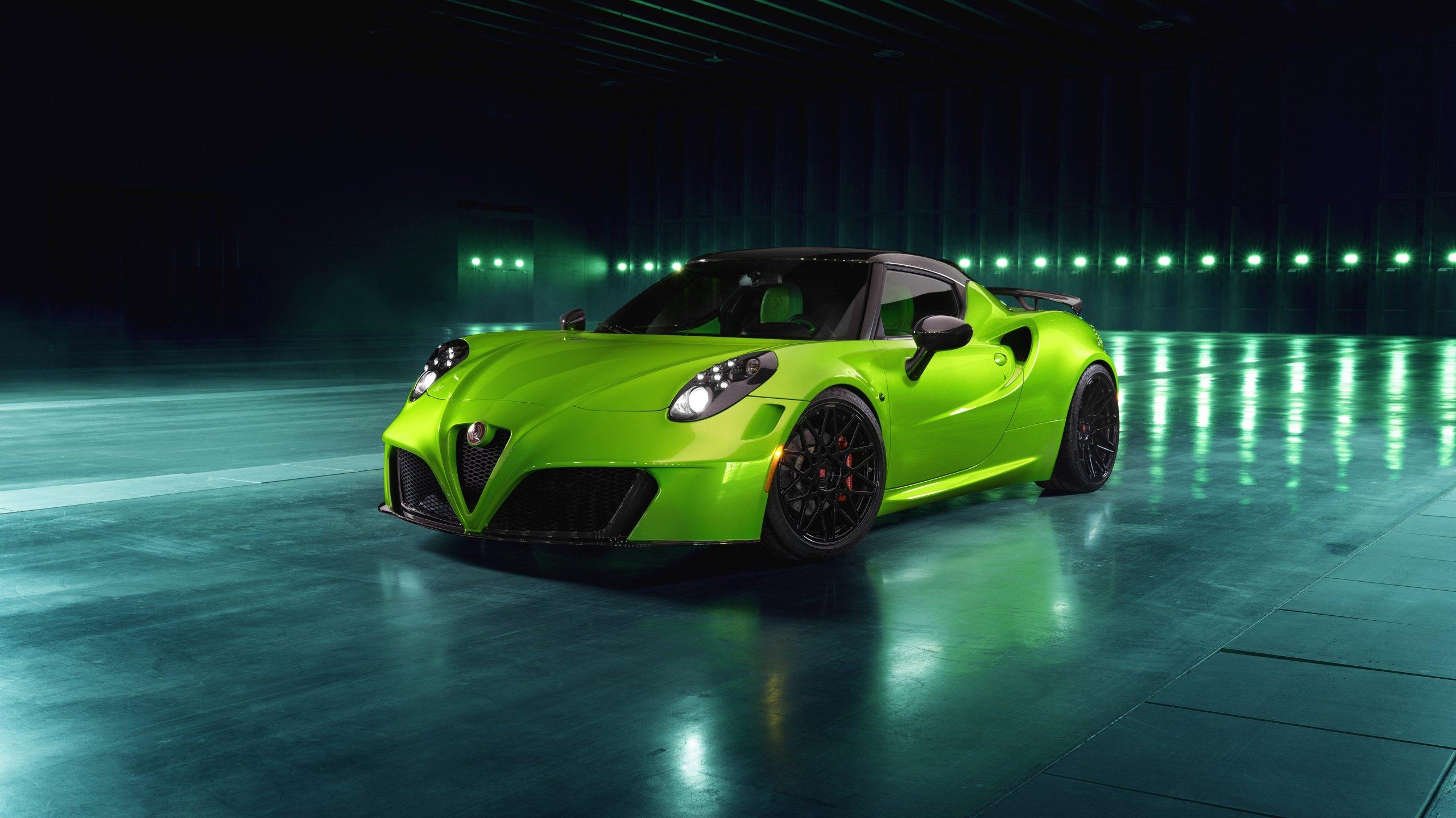 Alfa Romeo 4c Centurion Green Arrow Hd Wallpaper