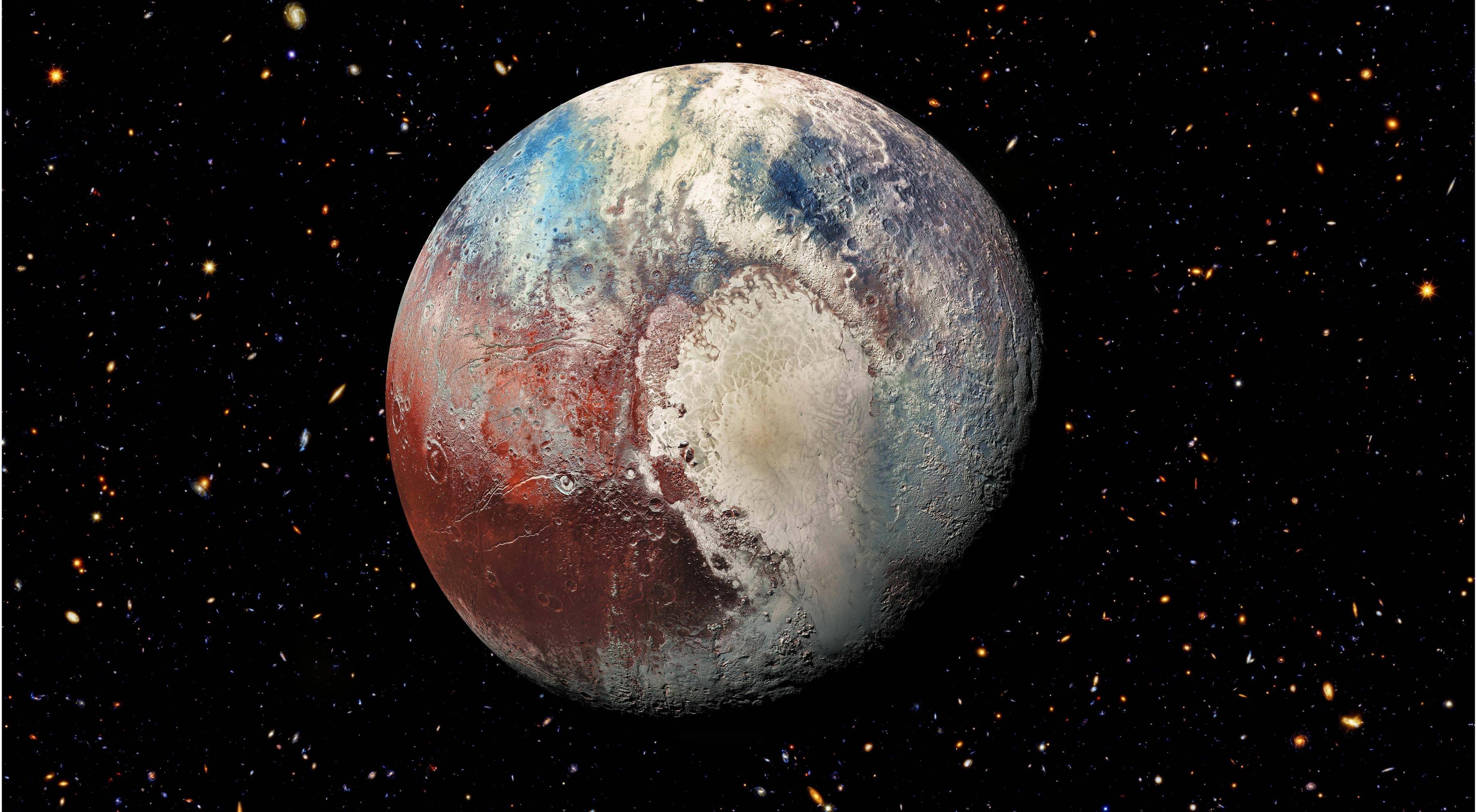 High Res Pluto Hubble Mix Hd Wallpaper