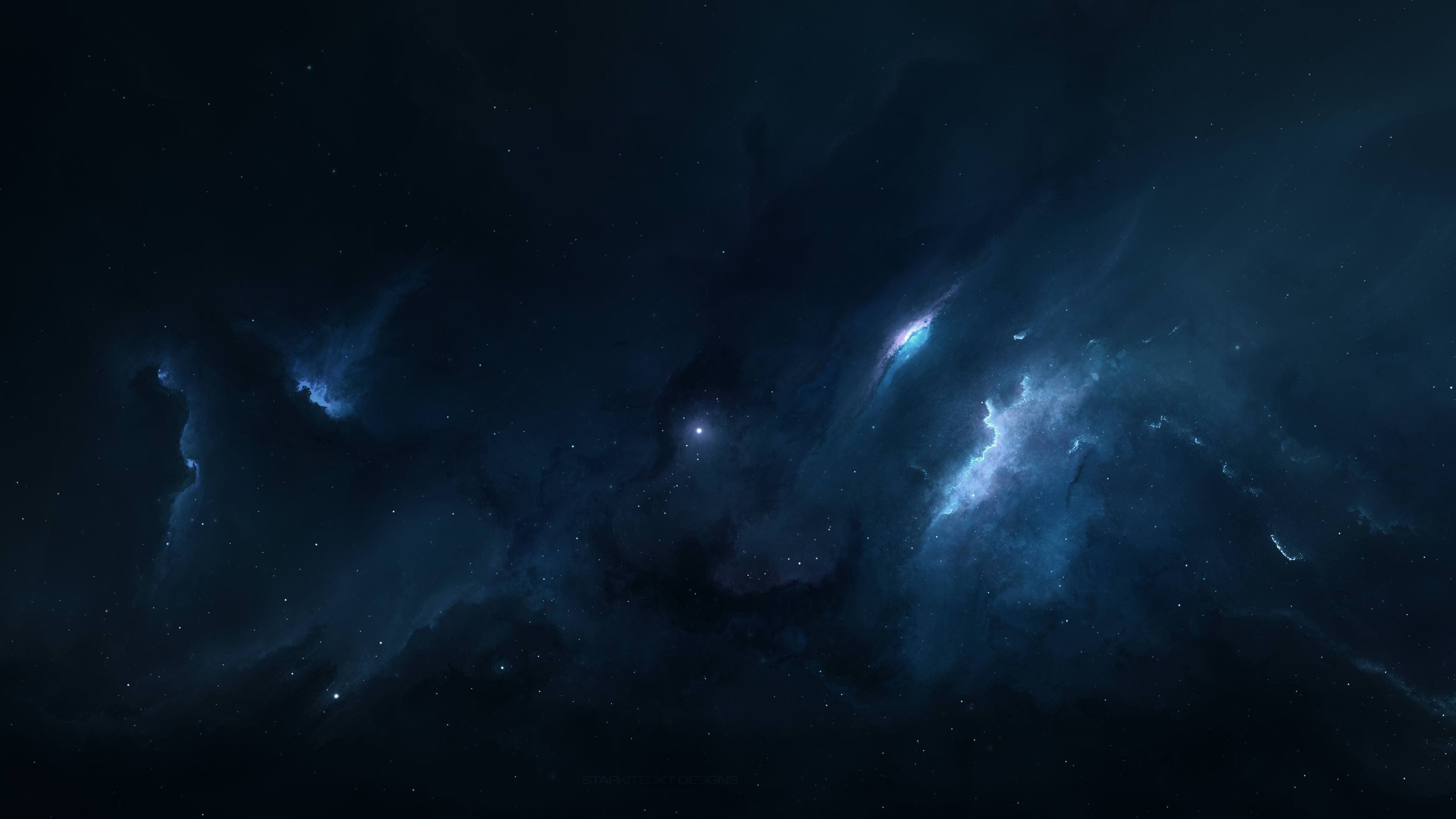 Blue Nebula 4K wallpaper Blue Nebula Wallpaper Widescreen