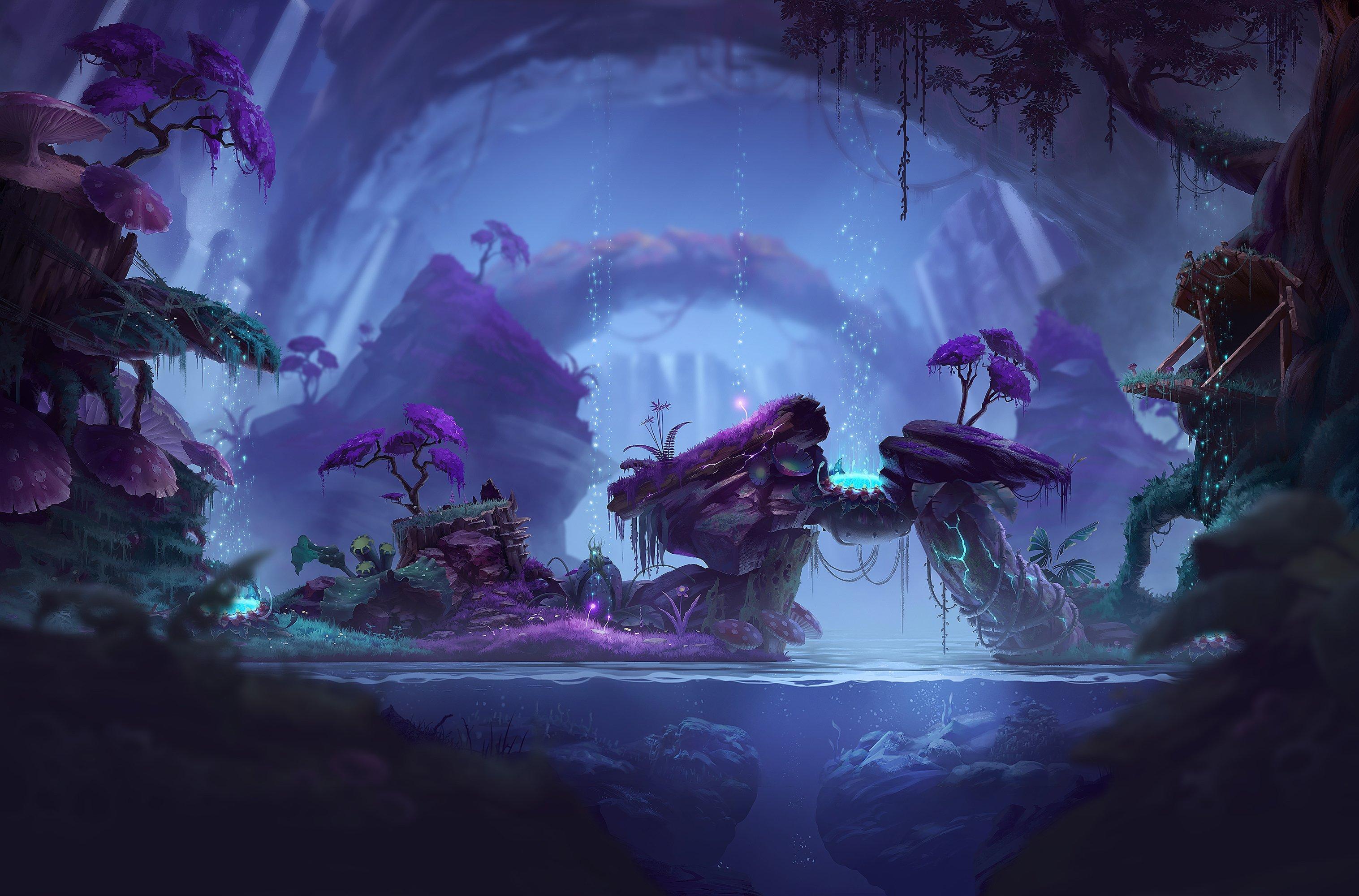 Inside A Magical Cave HD wallpaper