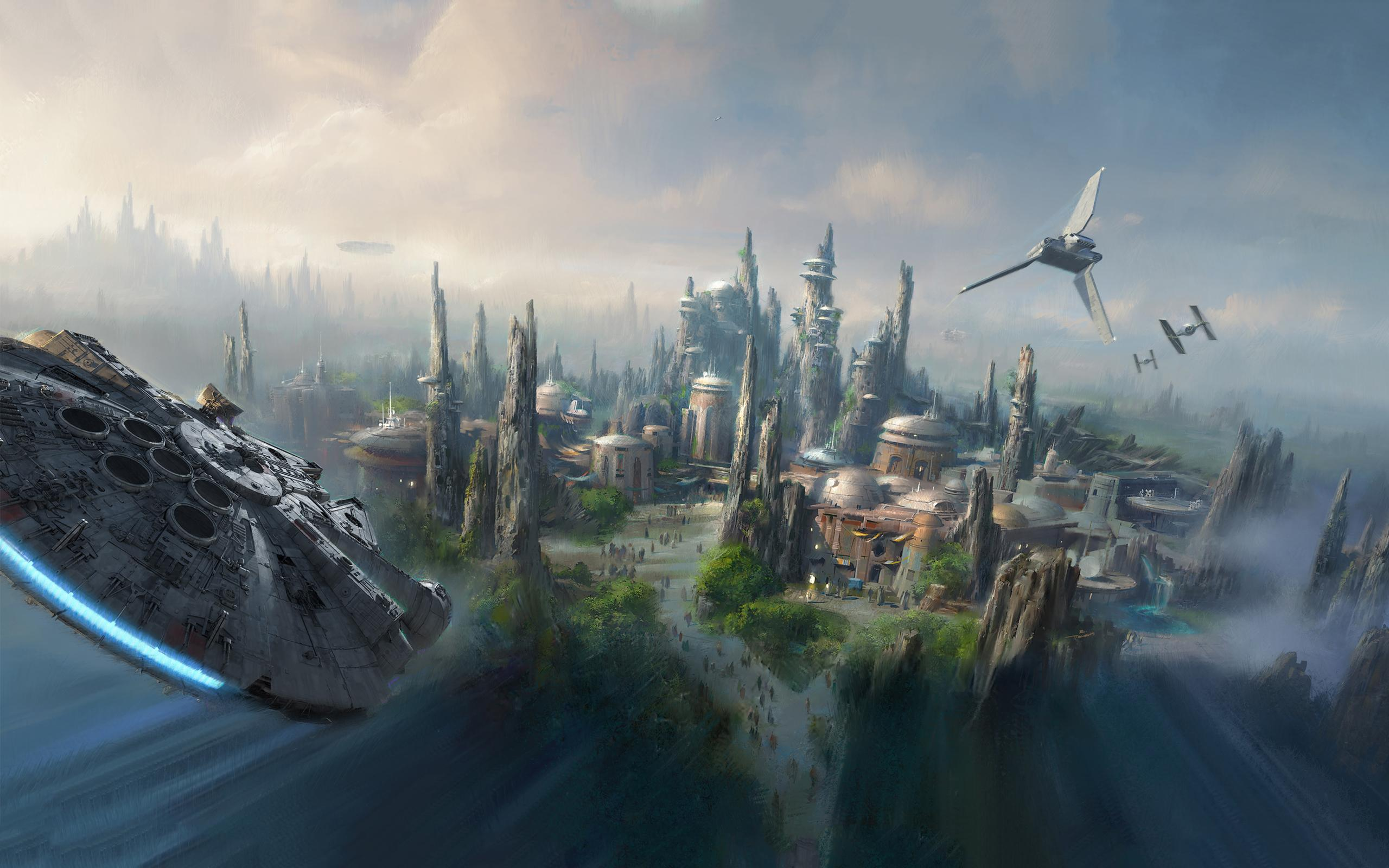 Disney Star Wars Land Artist Rendering Hd Wallpaper