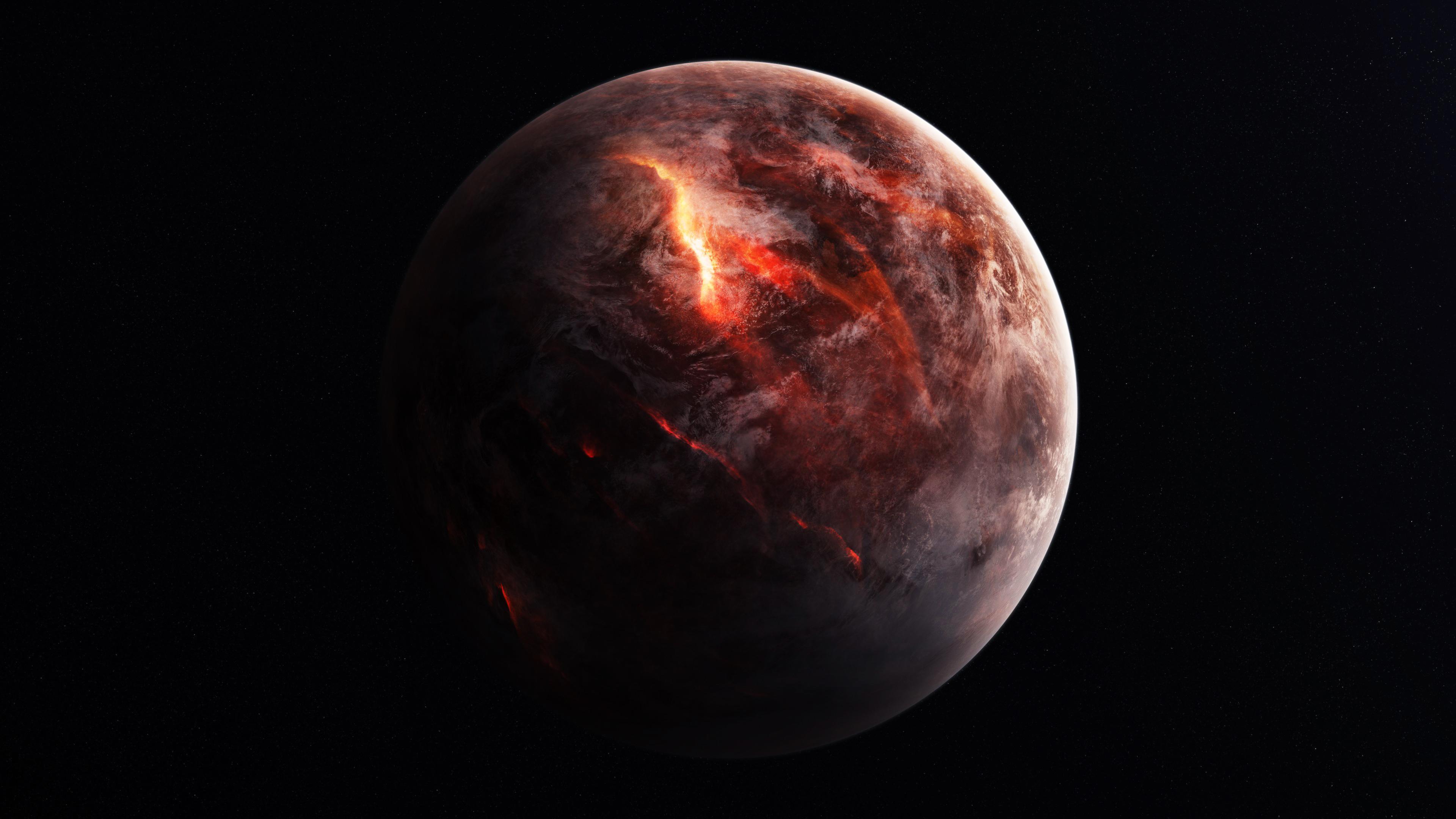 Fire Planet 4k Wallpaper