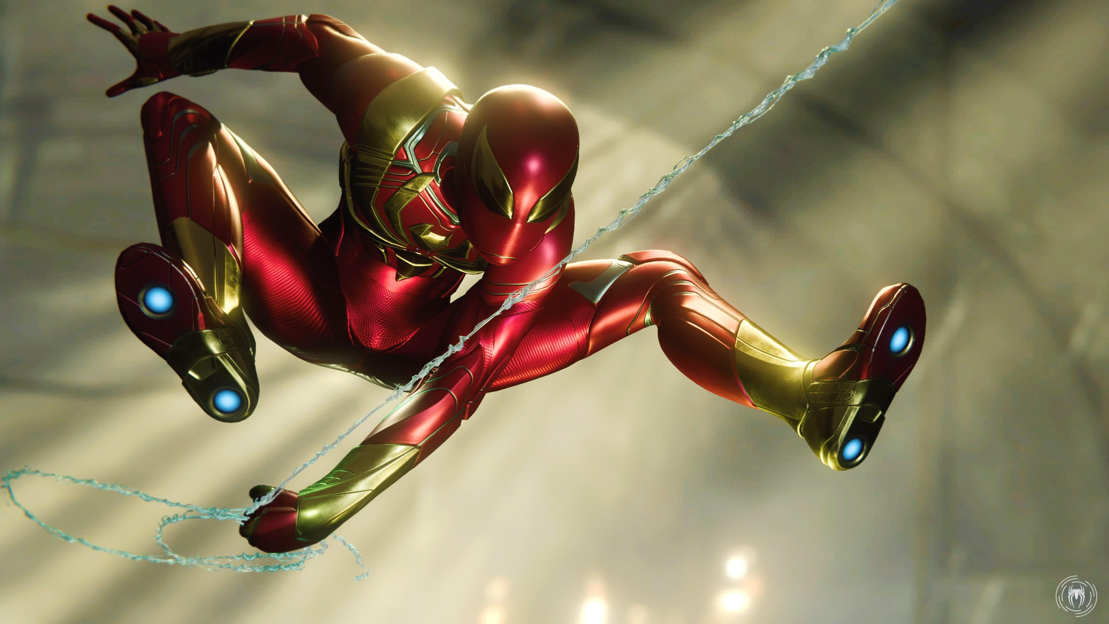 Iron Spider Man 4k Wallpaper