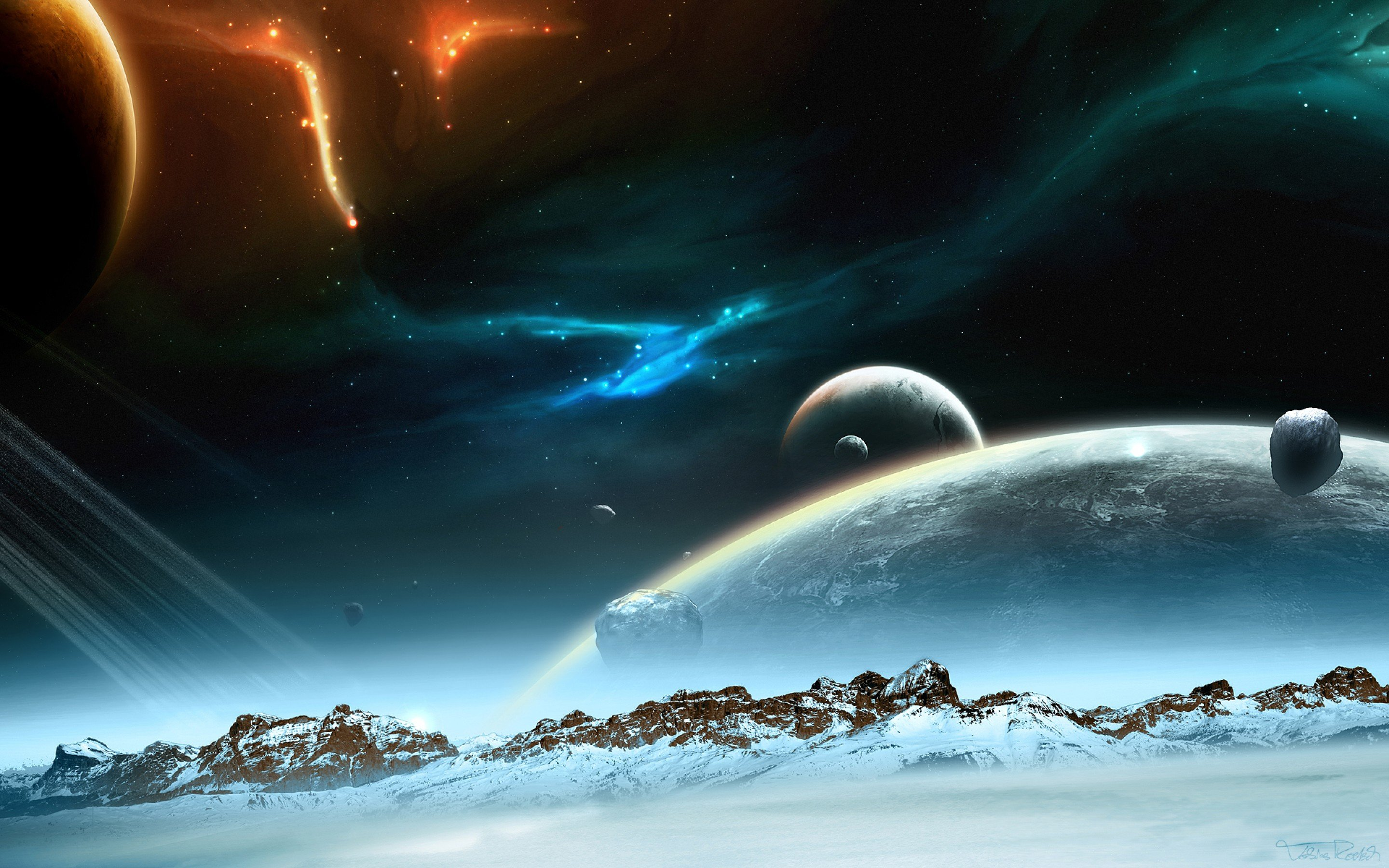 outer space planets - HD2560×1600