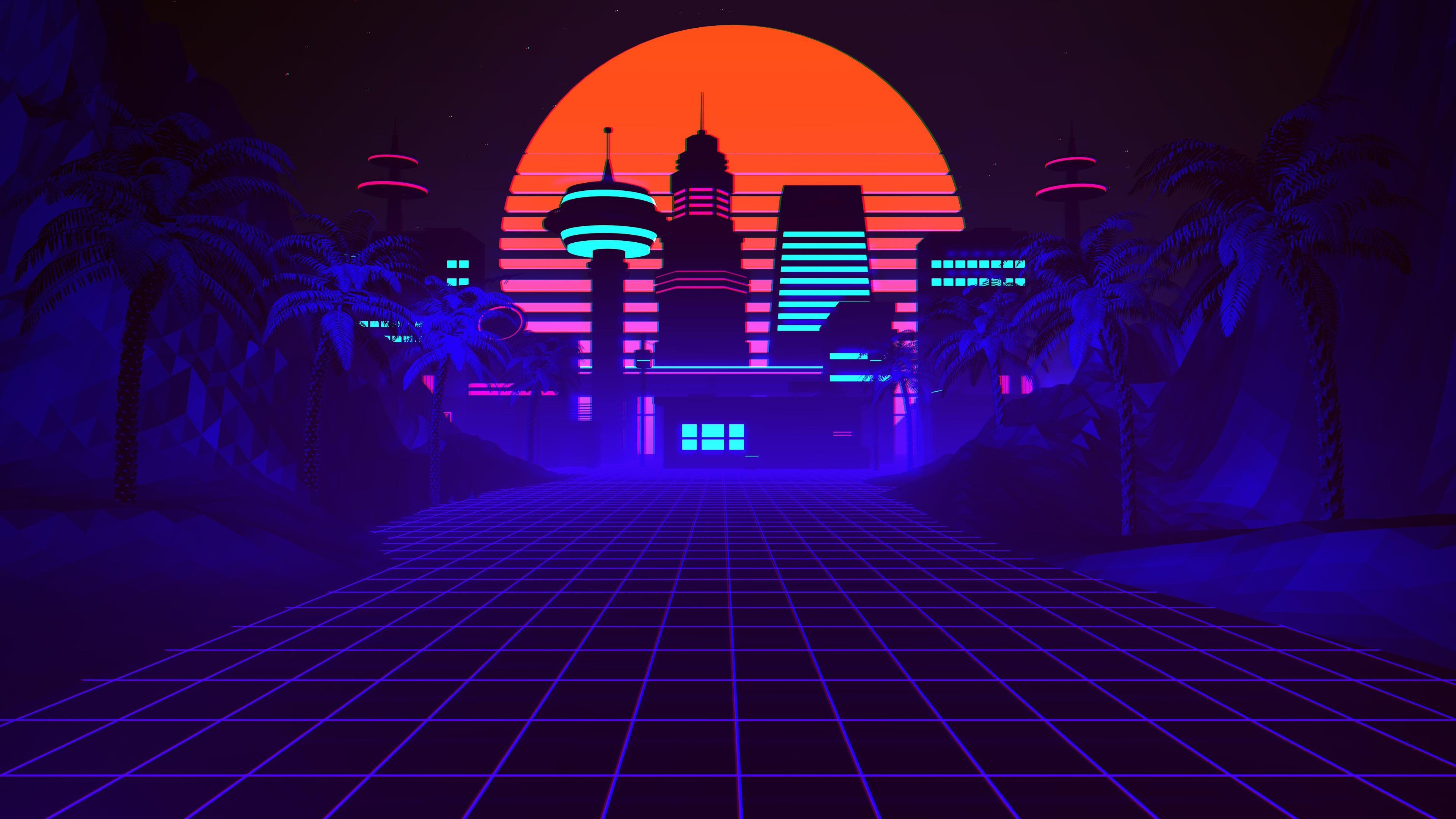 synthwave 4K wallpapers for your desktop or mobile screen free and