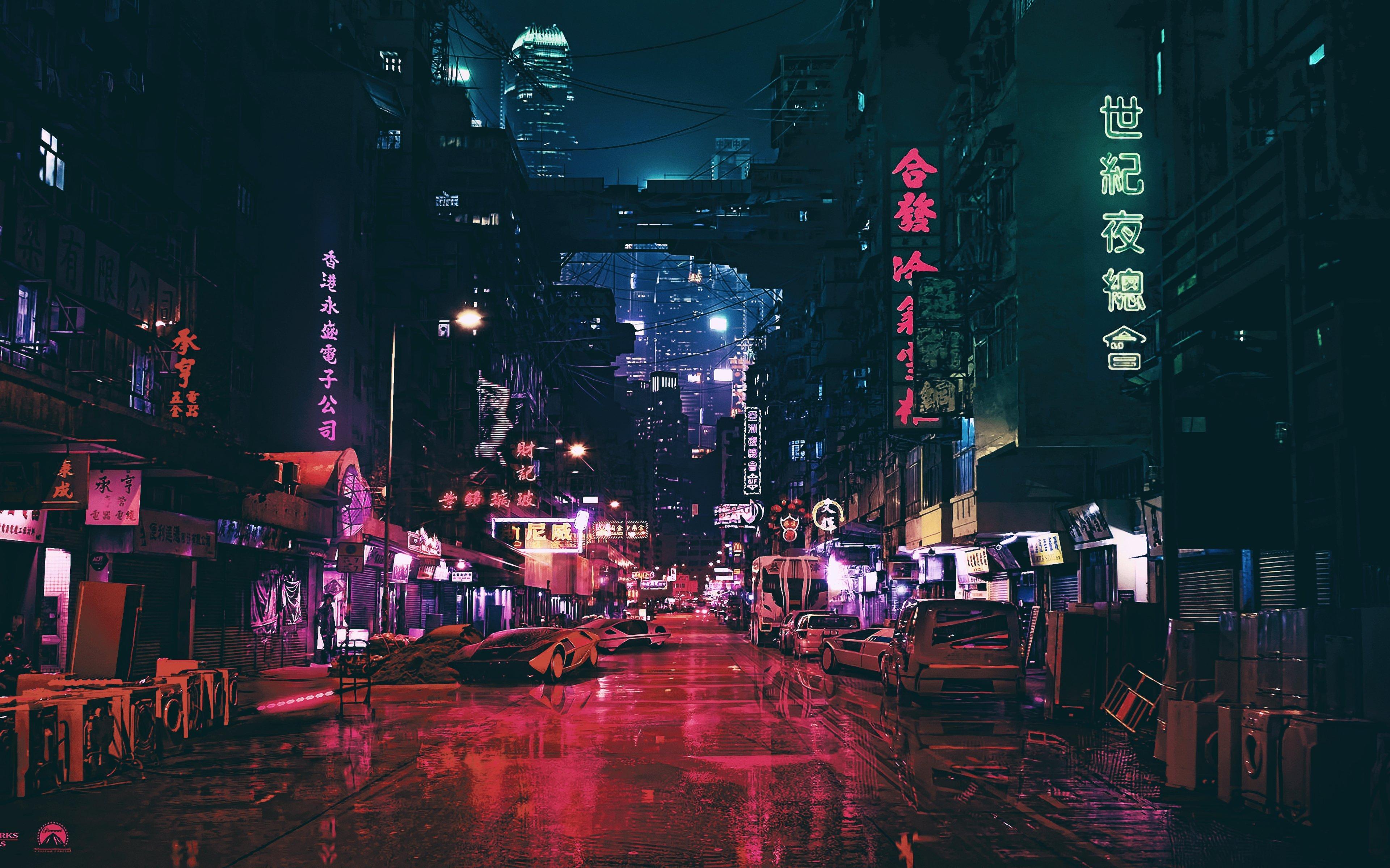 Midnight Synthwave City 4k Wallpaper