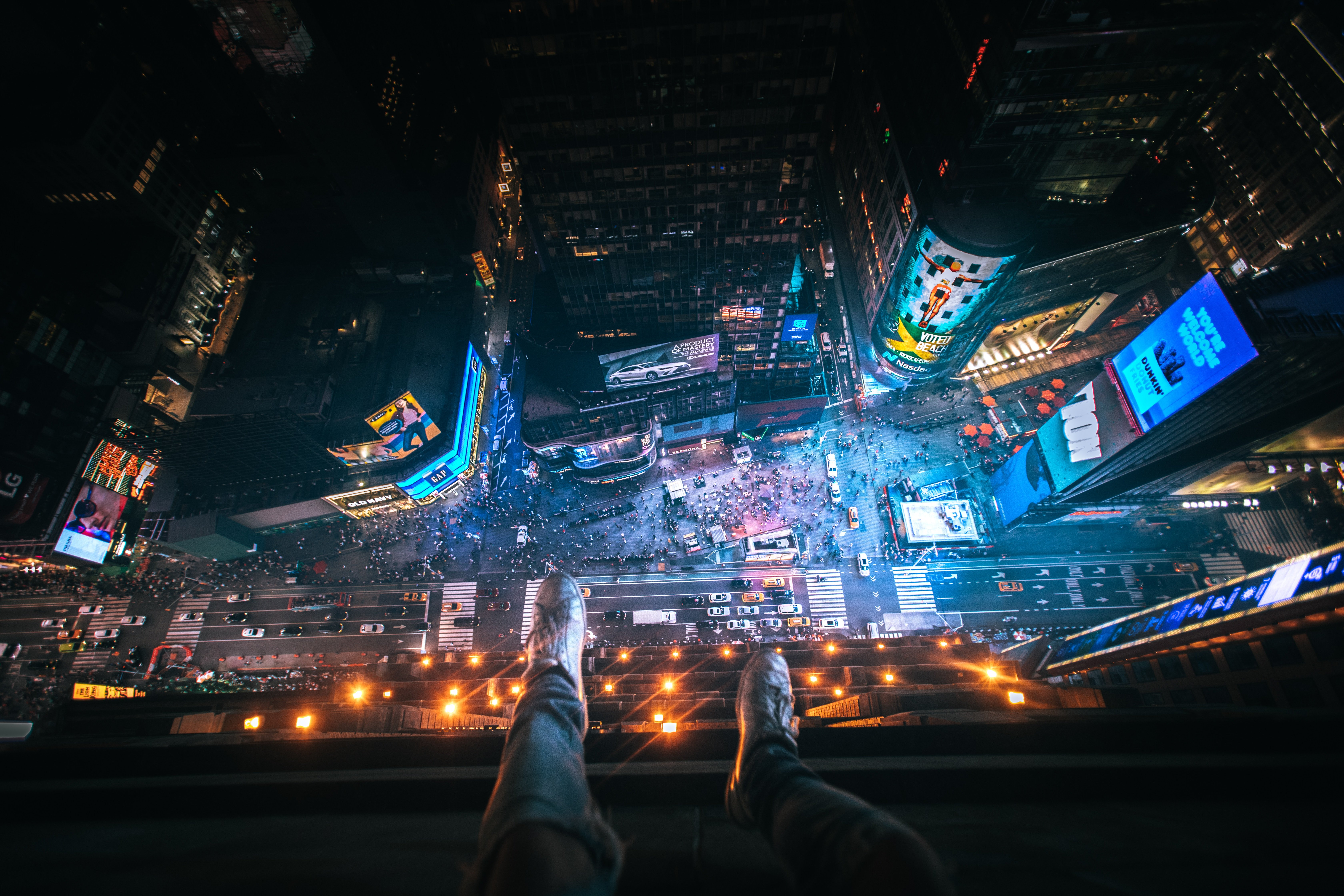 Above Time Square 4k Wallpaper