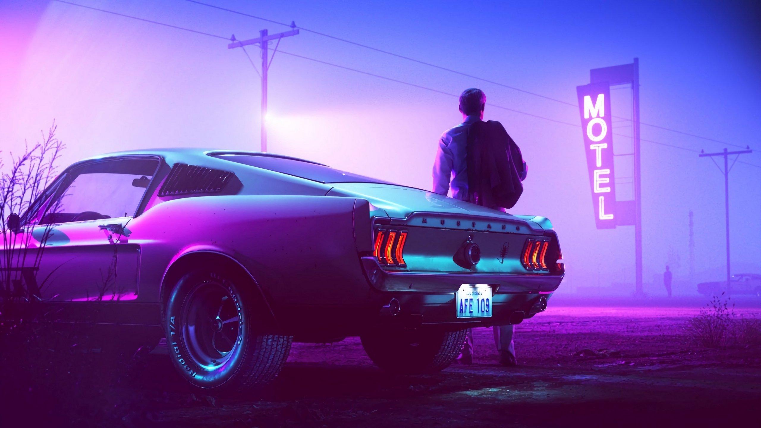Car and Man HD wallpaper
