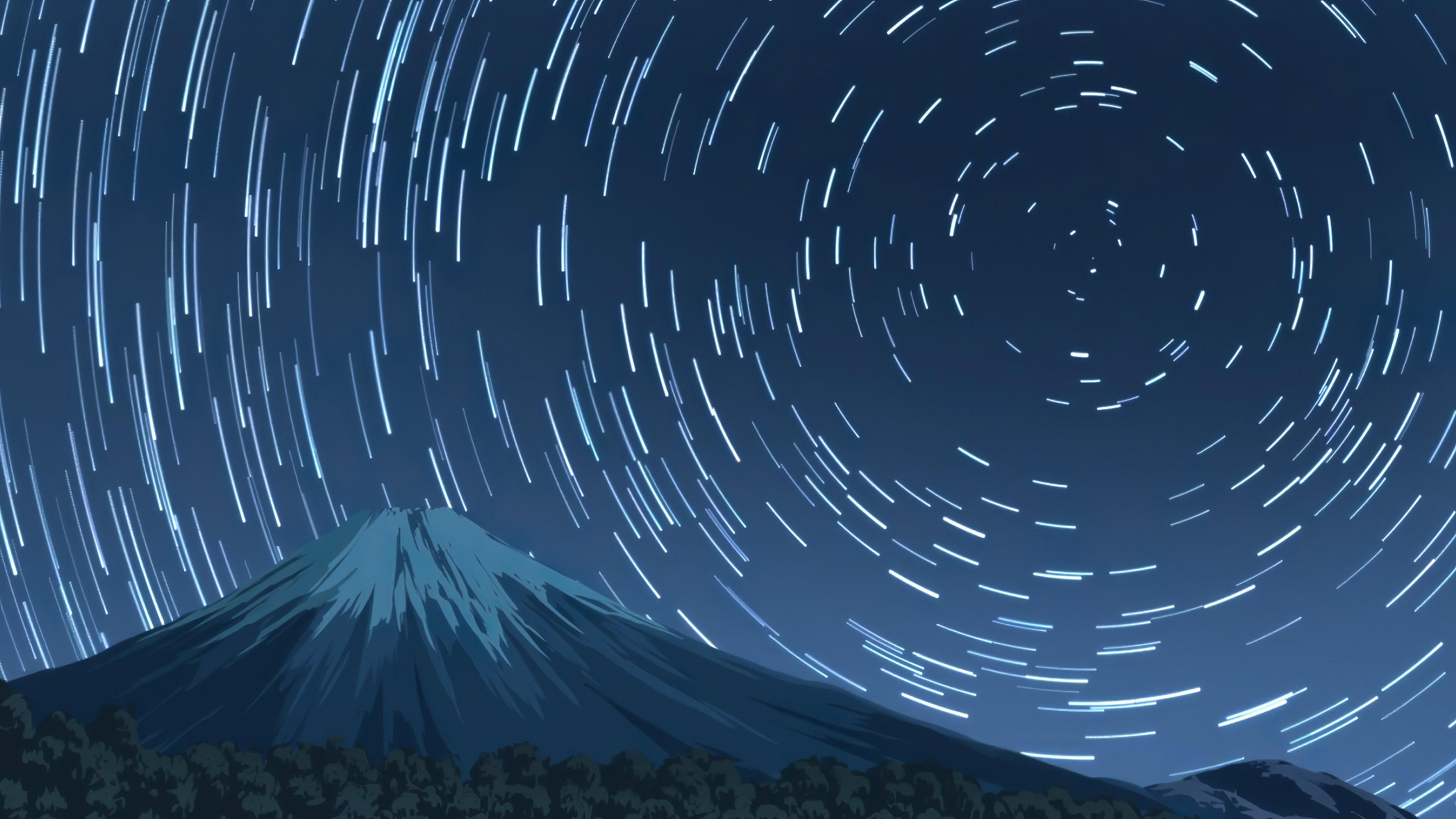 Mount Fuji From The Yuru Camp 4k Wallpaper