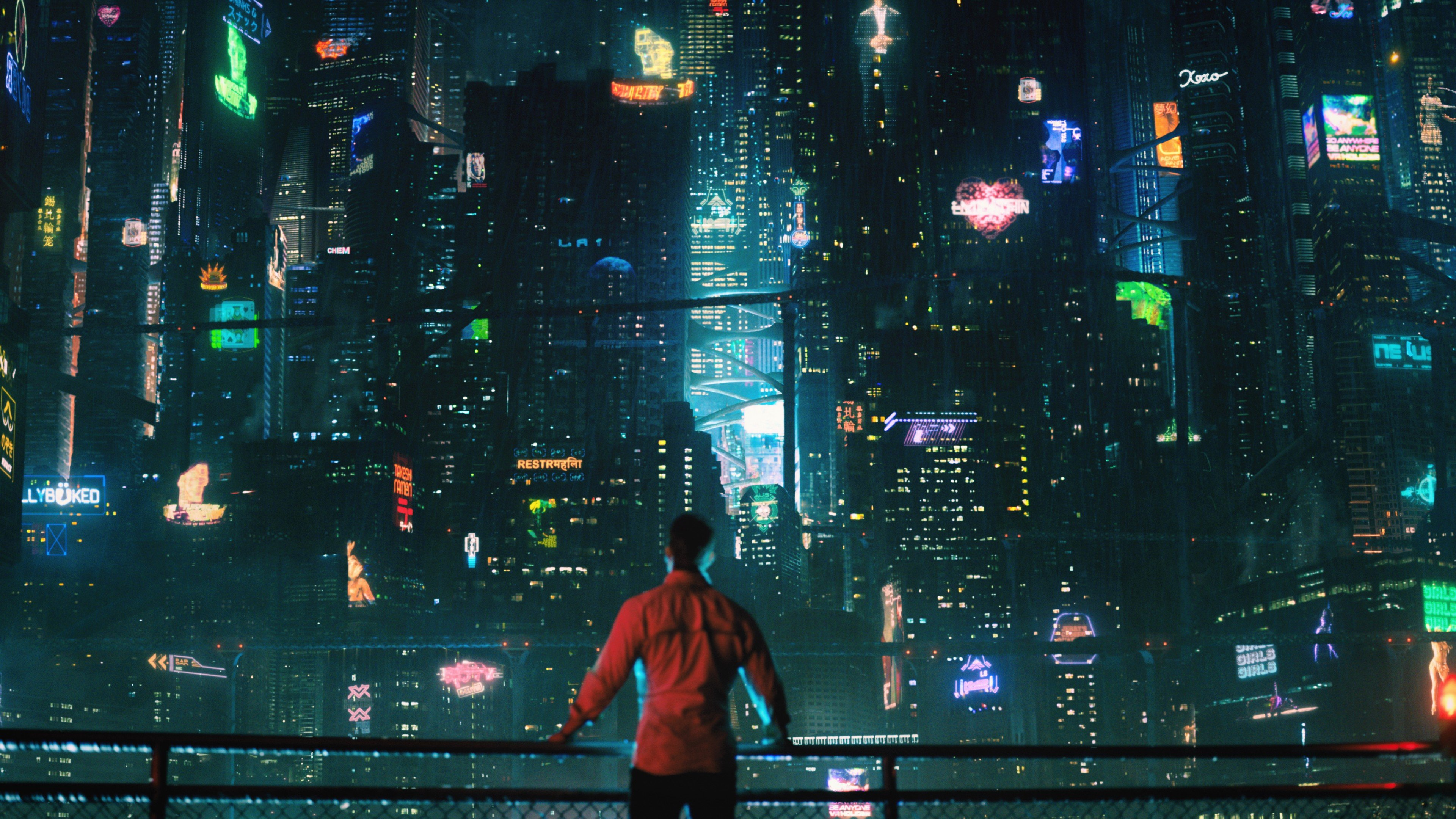 Cyberpunk Styled City 4k Wallpaper