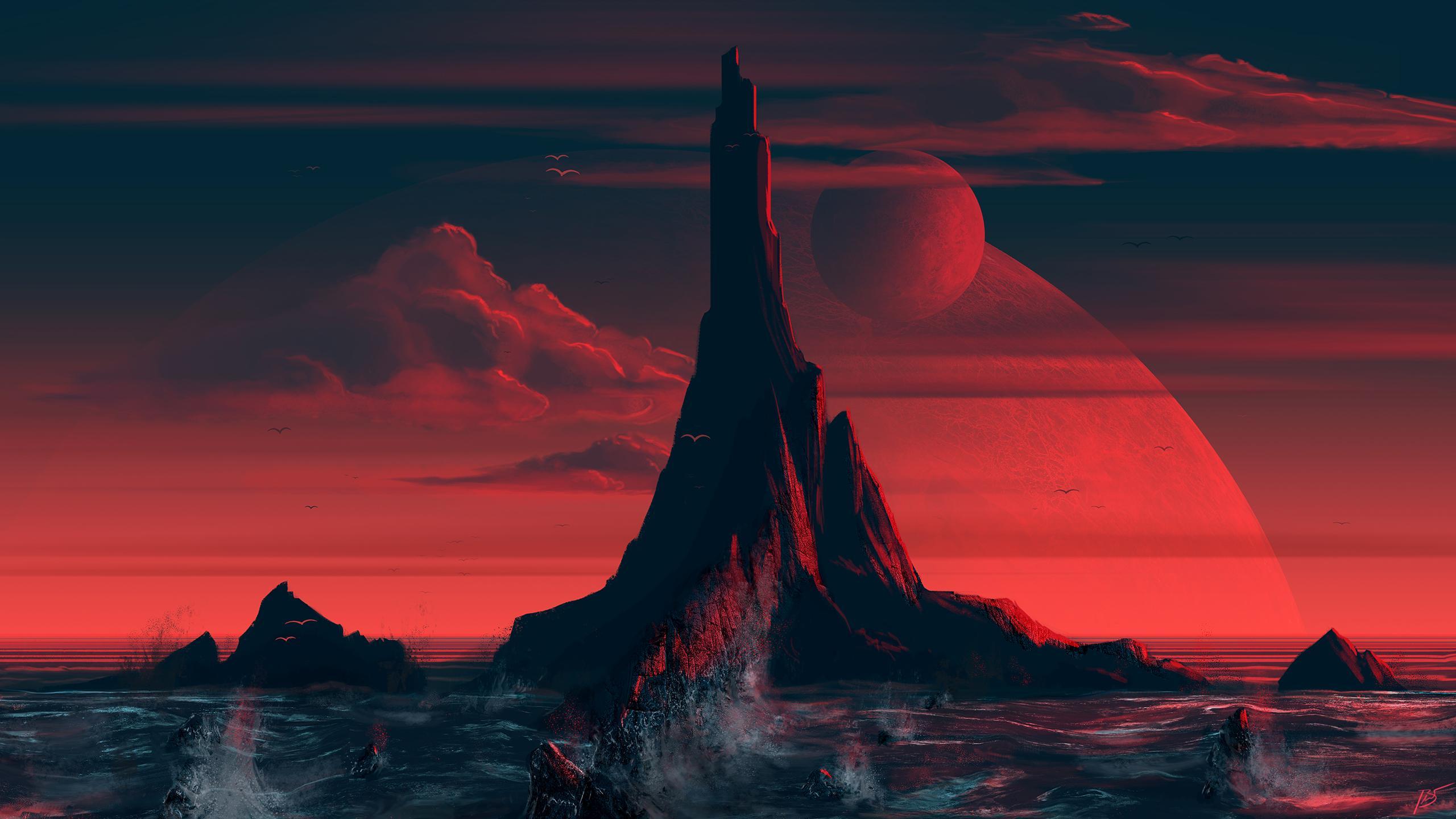 Red Island HD Wallpaper